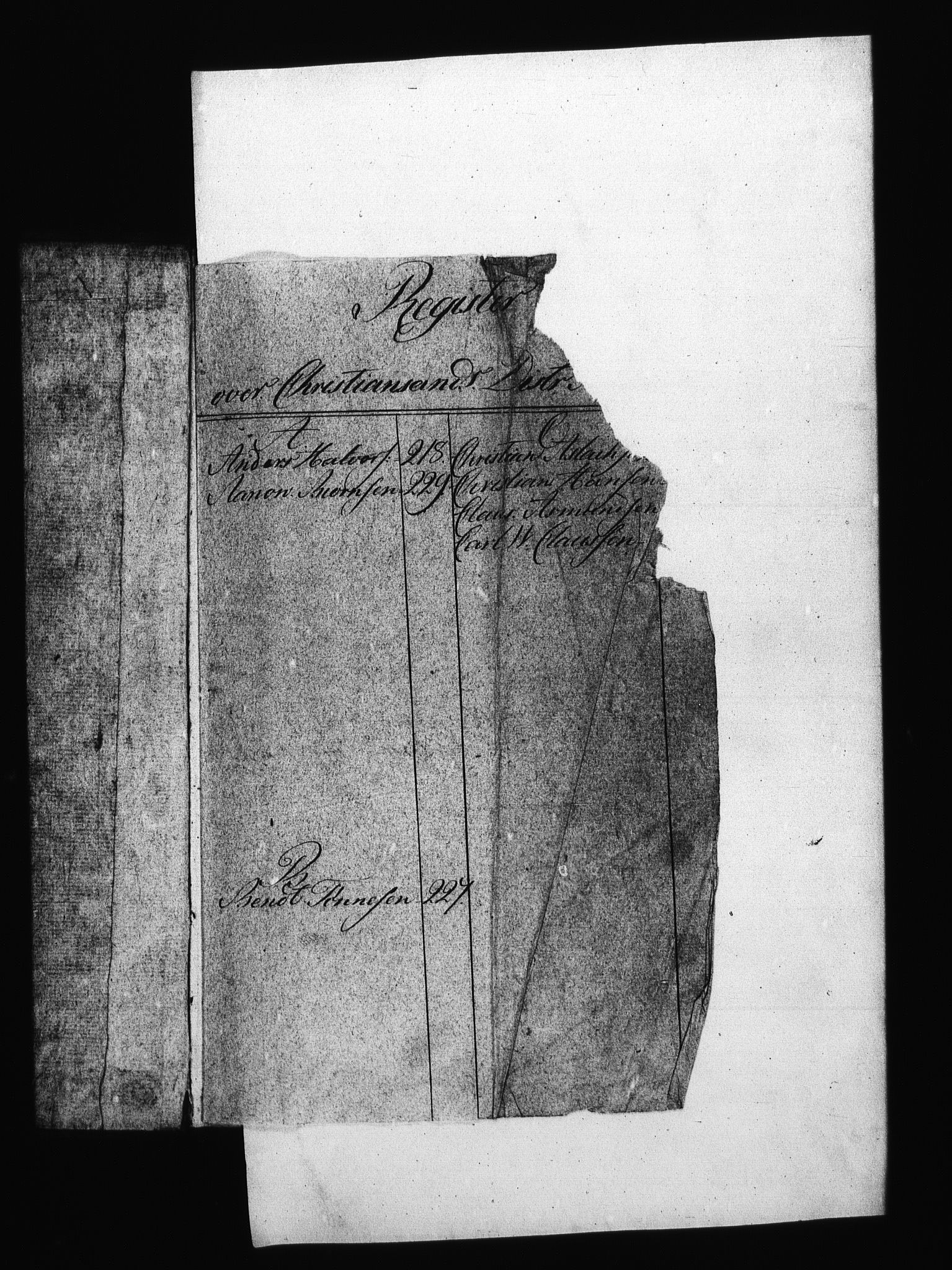 RA, Sjøetaten, F/L0105: Kristiansand limitter, bind 3, 1810