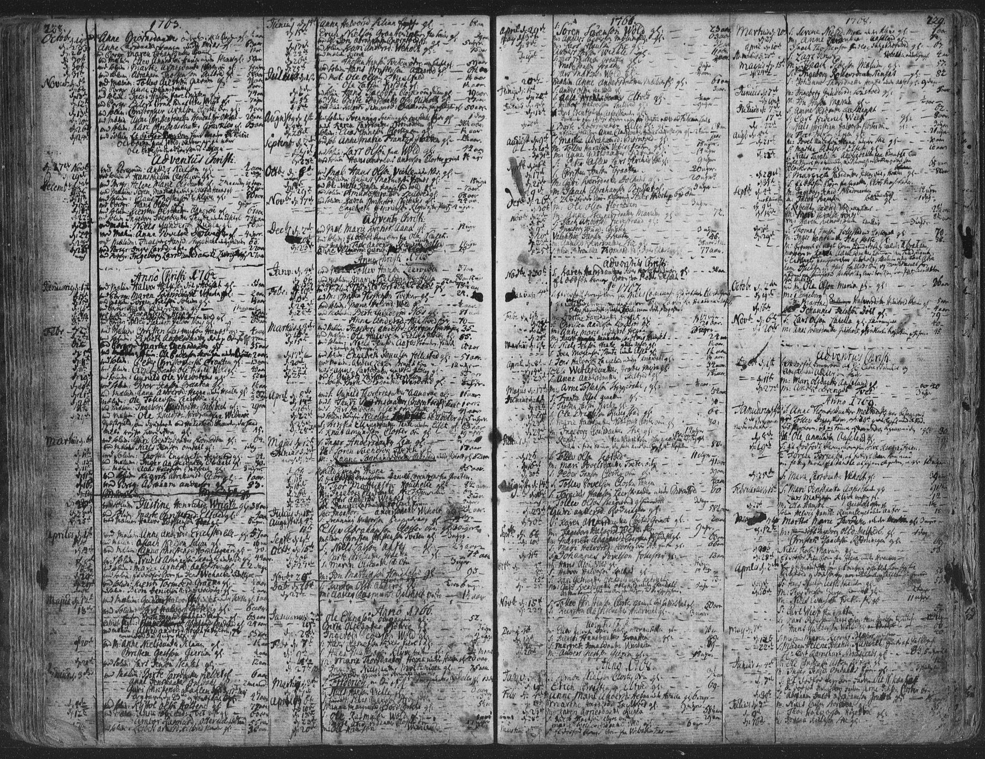 SAKO, Solum kirkebøker, F/Fa/L0003: Ministerialbok nr. I 3, 1761-1814, s. 228-229