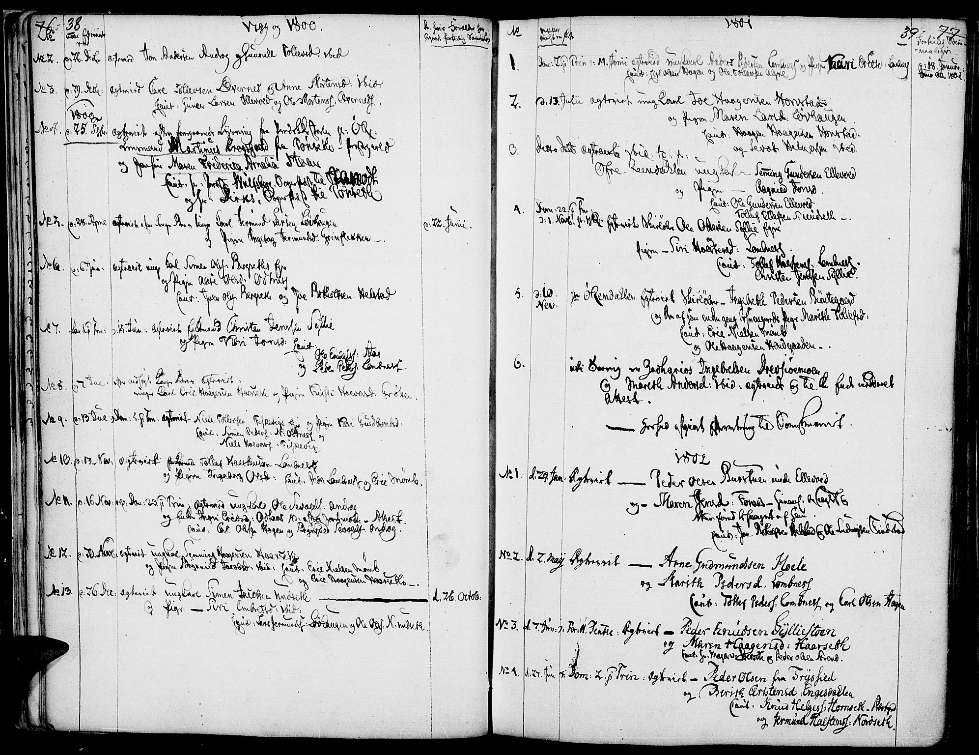 SAH, Rendalen prestekontor, H/Ha/Haa/L0002: Ministerialbok nr. 2, 1788-1814, s. 38-39