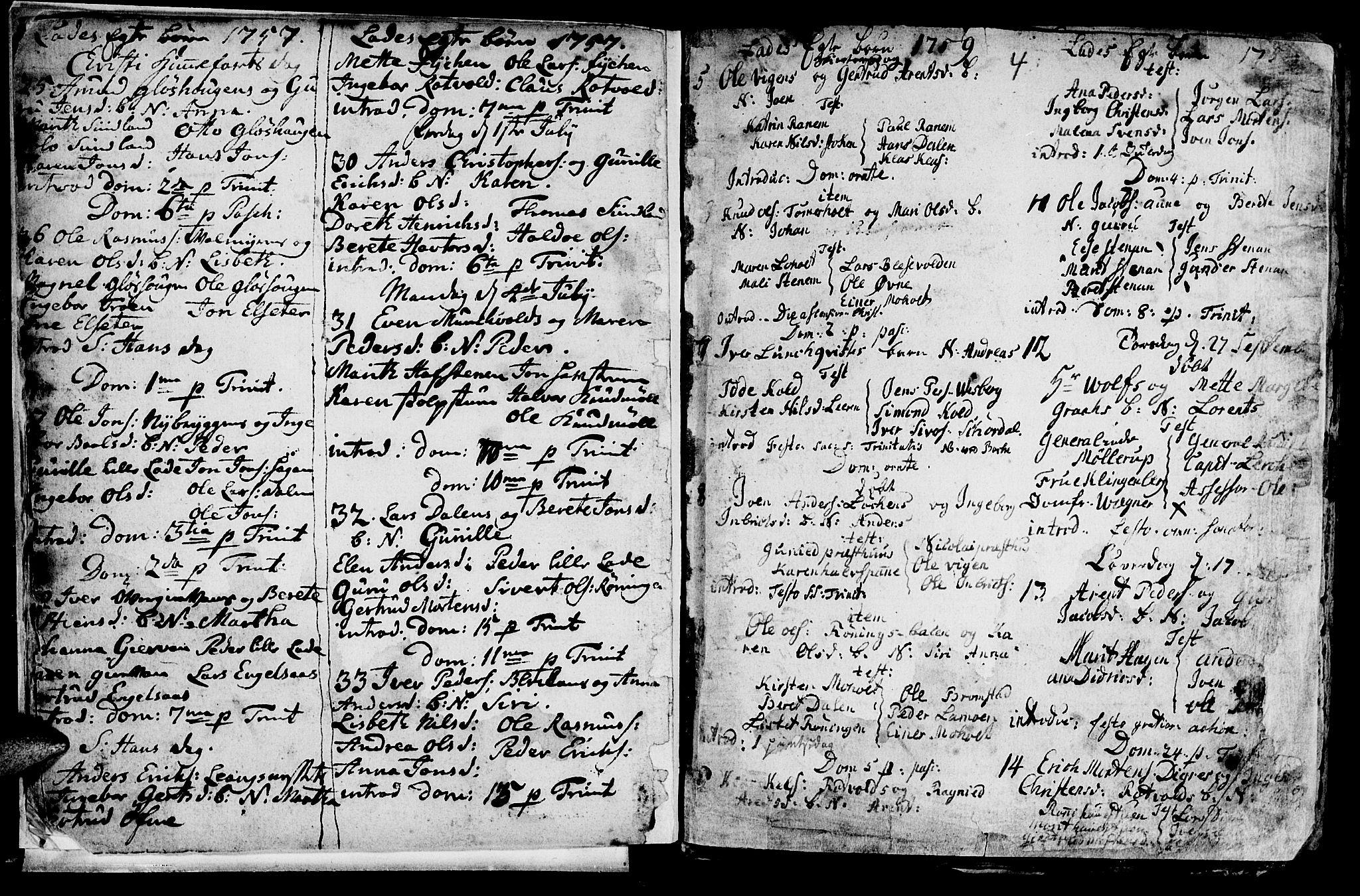 SAT, Ministerialprotokoller, klokkerbøker og fødselsregistre - Sør-Trøndelag, 606/L0305: Klokkerbok nr. 606C01, 1757-1819, s. 4