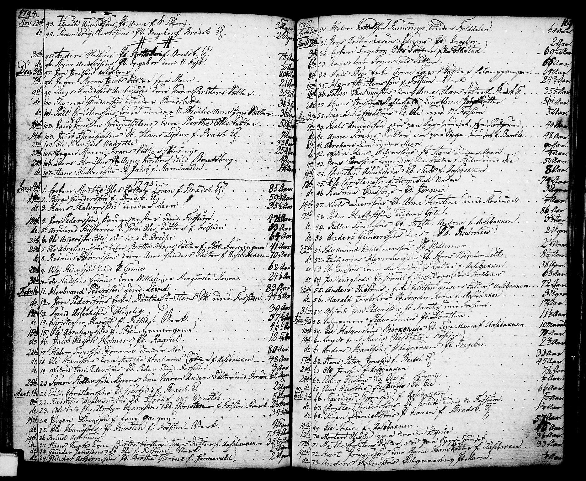 SAKO, Gjerpen kirkebøker, F/Fa/L0002: Ministerialbok nr. 2, 1747-1795, s. 169