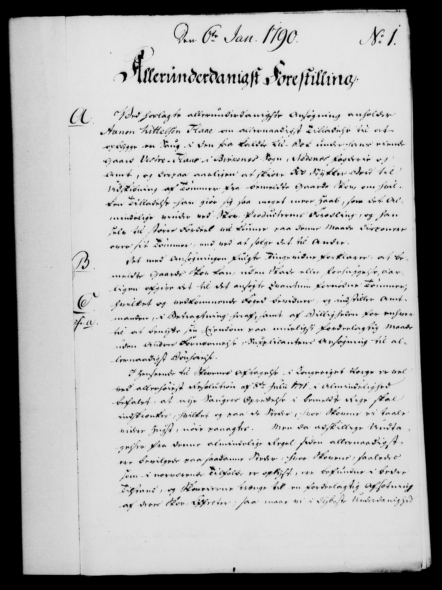 RA, Rentekammeret, Kammerkanselliet, G/Gf/Gfa/L0072: Norsk relasjons- og resolusjonsprotokoll (merket RK 52.72), 1790, s. 27