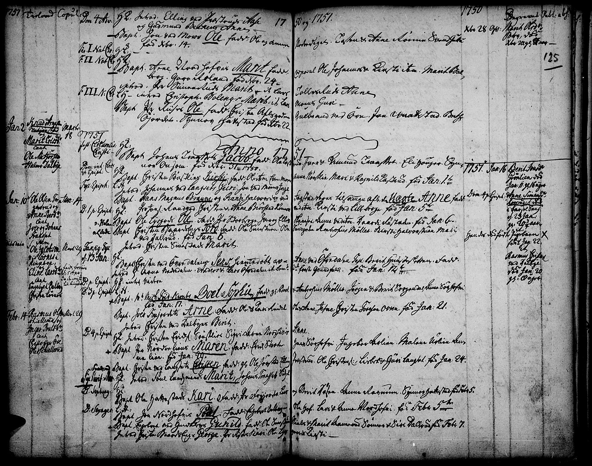 SAH, Fåberg prestekontor, Ministerialbok nr. 1, 1727-1775, s. 125