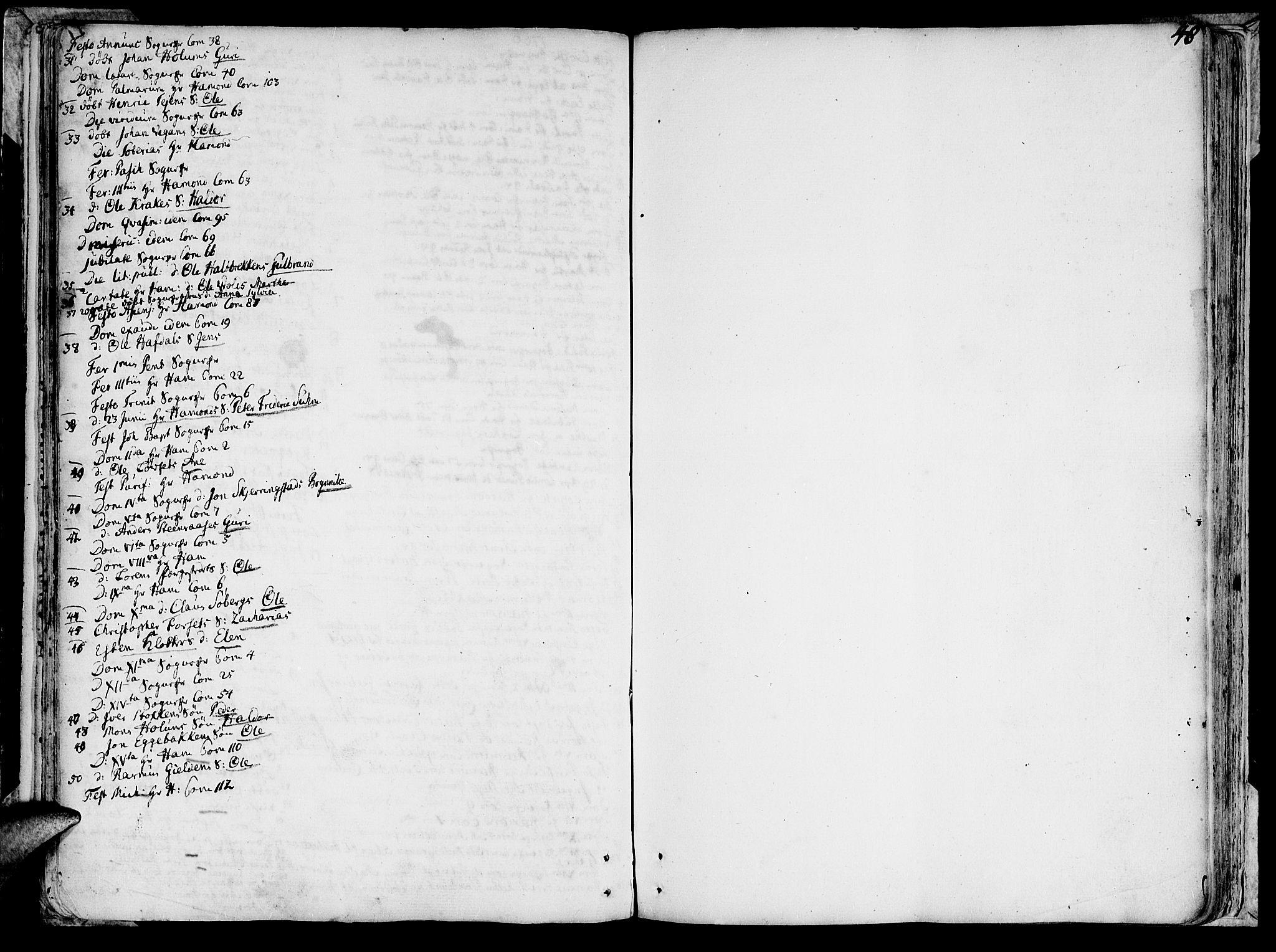 SAT, Ministerialprotokoller, klokkerbøker og fødselsregistre - Sør-Trøndelag, 691/L1057: Ministerialbok nr. 691A01 /1, 1740-1767, s. 48