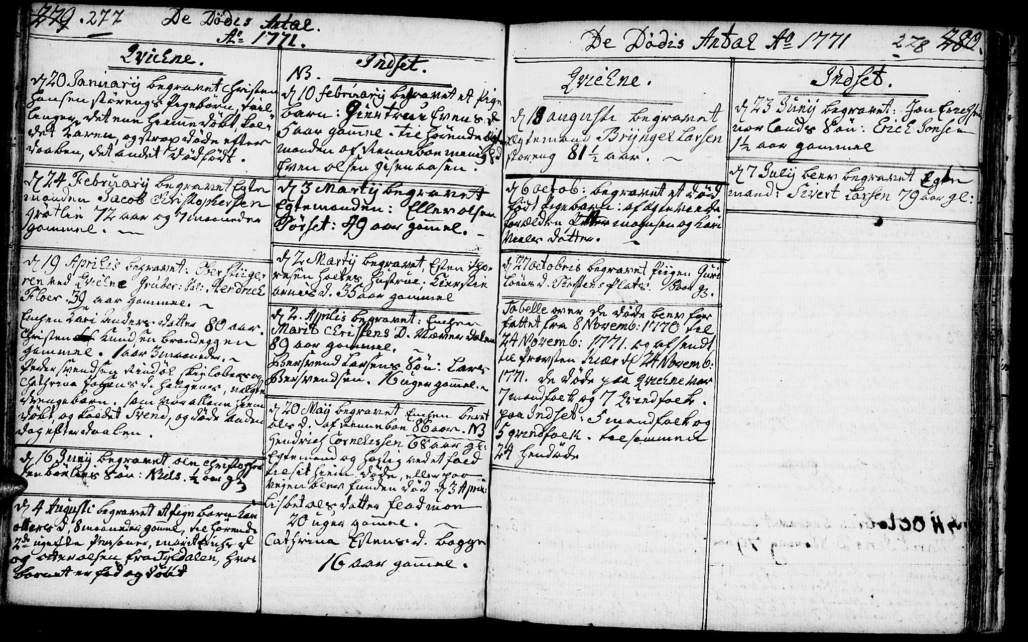 SAH, Kvikne prestekontor, Ministerialbok nr. 2, 1764-1784, s. 277-278