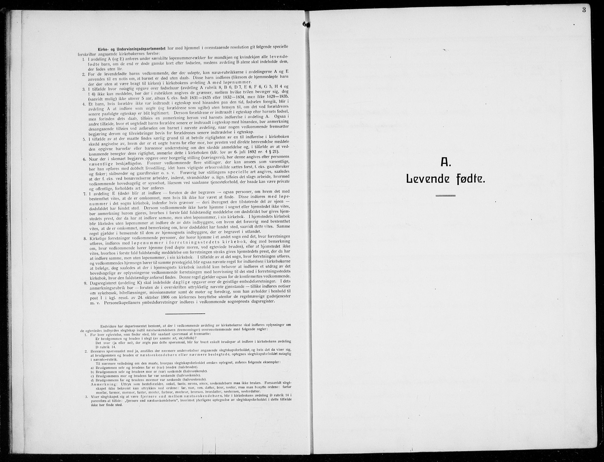 SAB, Austevoll Sokneprestembete, H/Hab: Klokkerbok nr. A  6, 1925-1938, s. 3