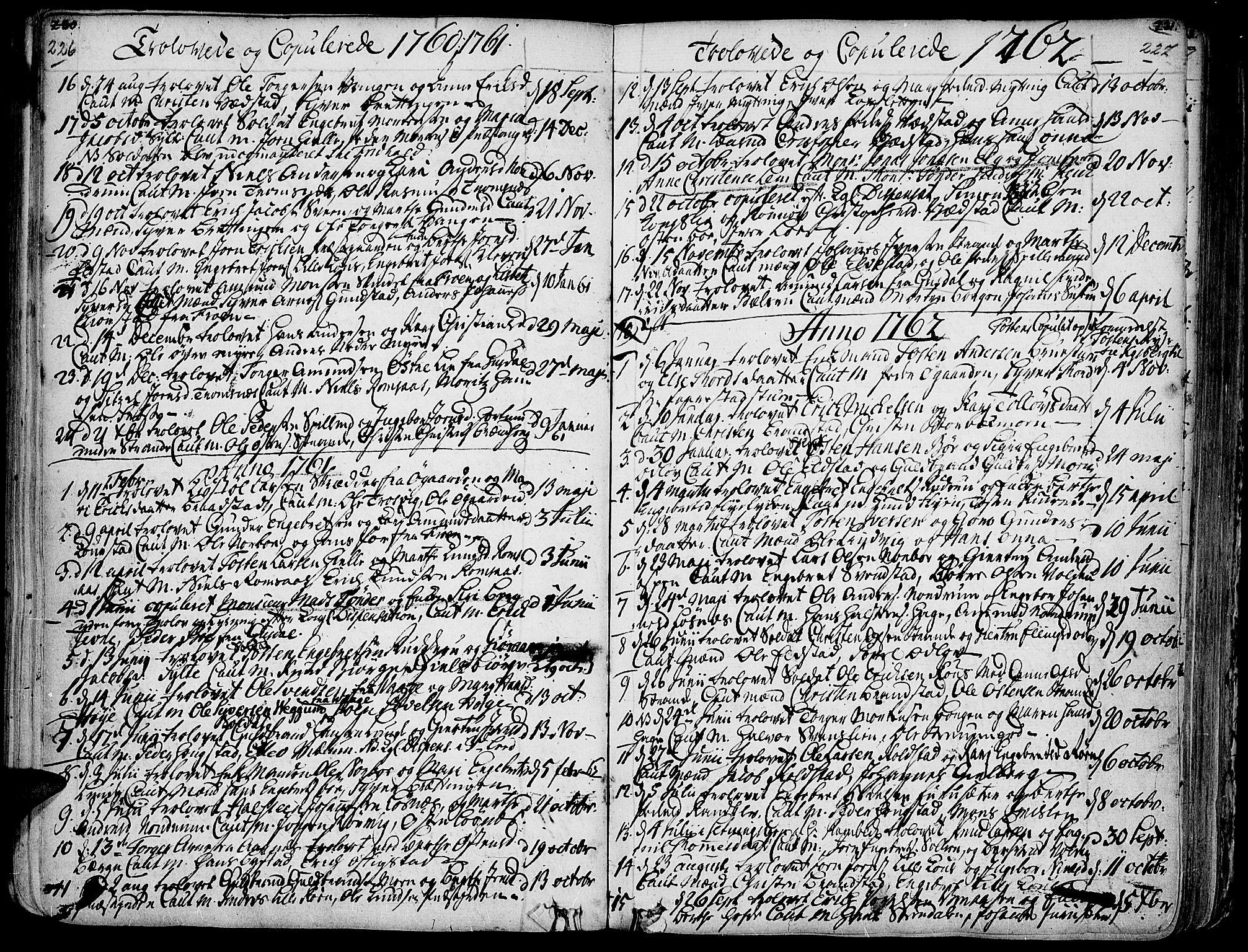 SAH, Ringebu prestekontor, Ministerialbok nr. 2, 1734-1780, s. 226-227