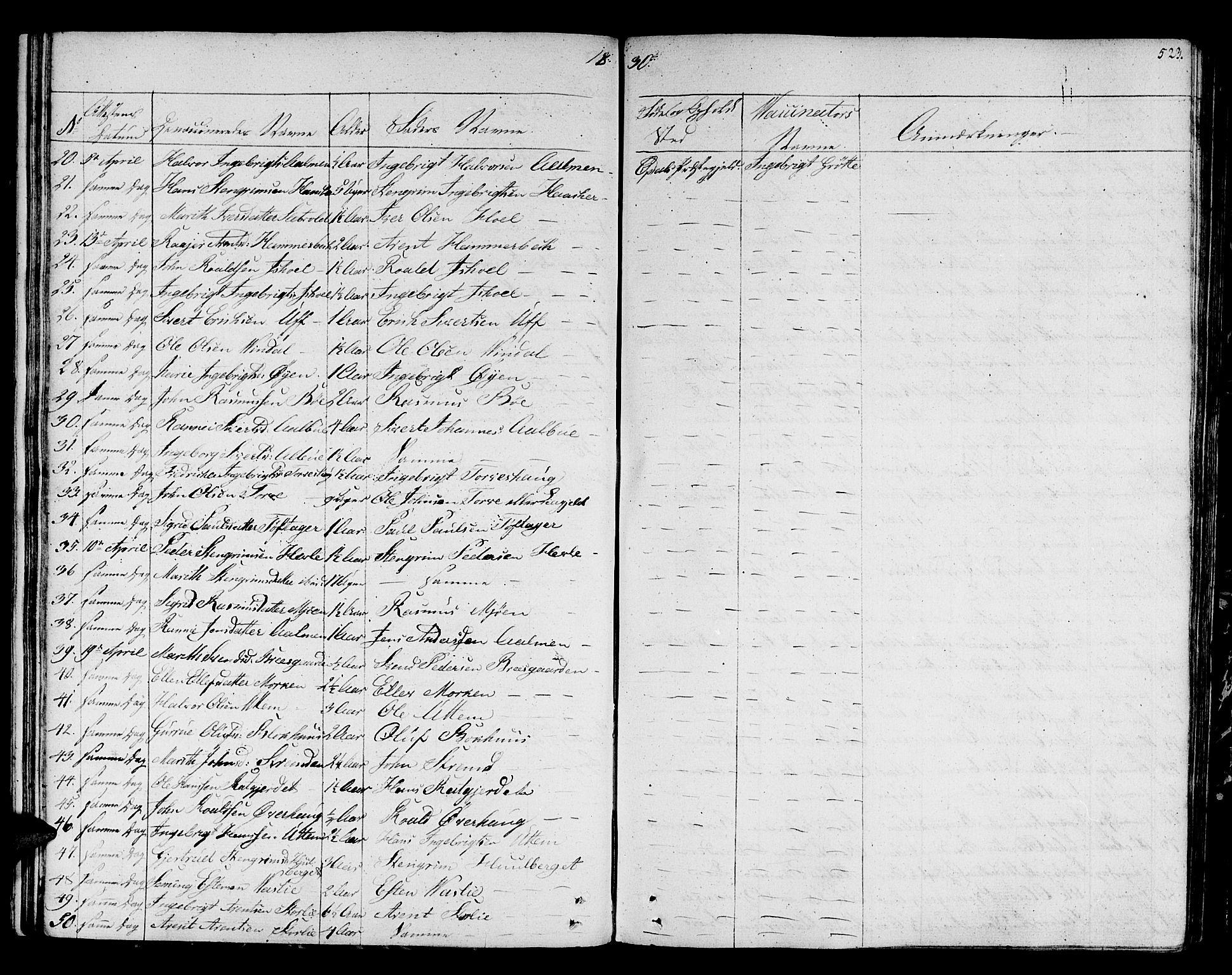 SAT, Ministerialprotokoller, klokkerbøker og fødselsregistre - Sør-Trøndelag, 678/L0897: Ministerialbok nr. 678A06-07, 1821-1847, s. 523