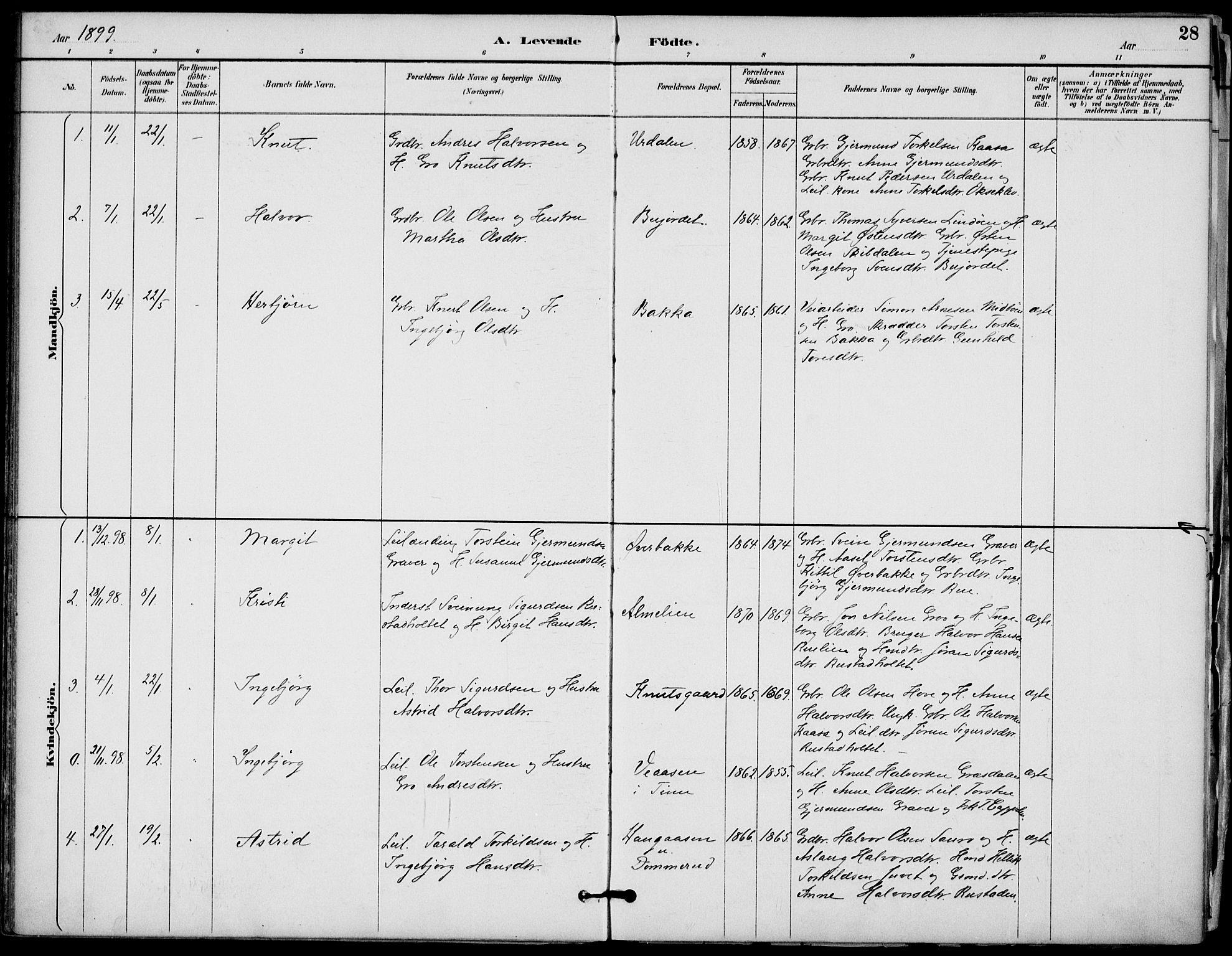 SAKO, Gransherad kirkebøker, F/Fb/L0005: Ministerialbok nr. II 5, 1887-1916, s. 28