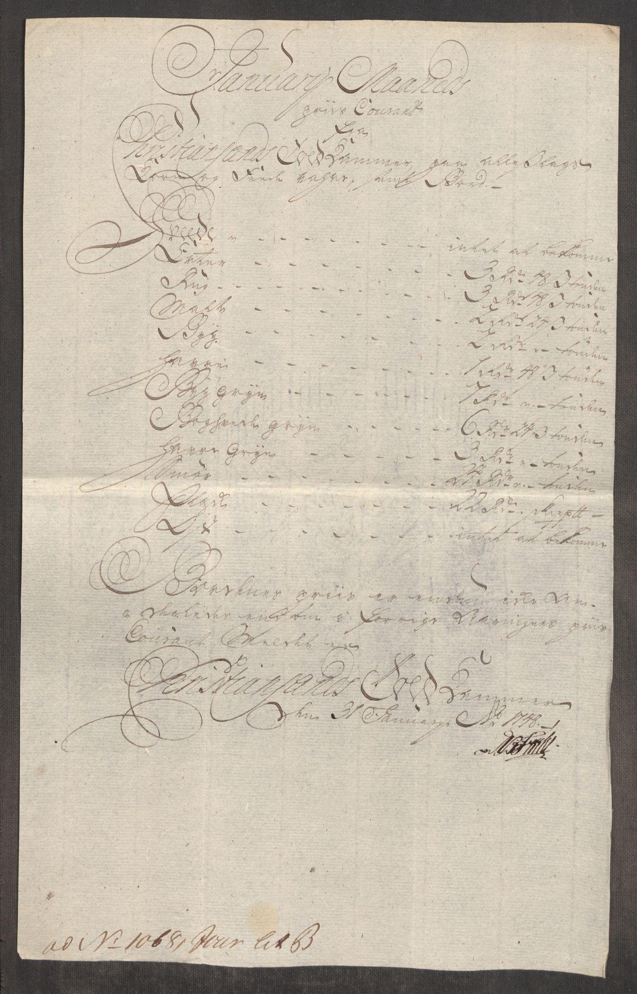 RA, Rentekammeret inntil 1814, Realistisk ordnet avdeling, Oe/L0003: [Ø1]: Priskuranter, 1745-1748, s. 838