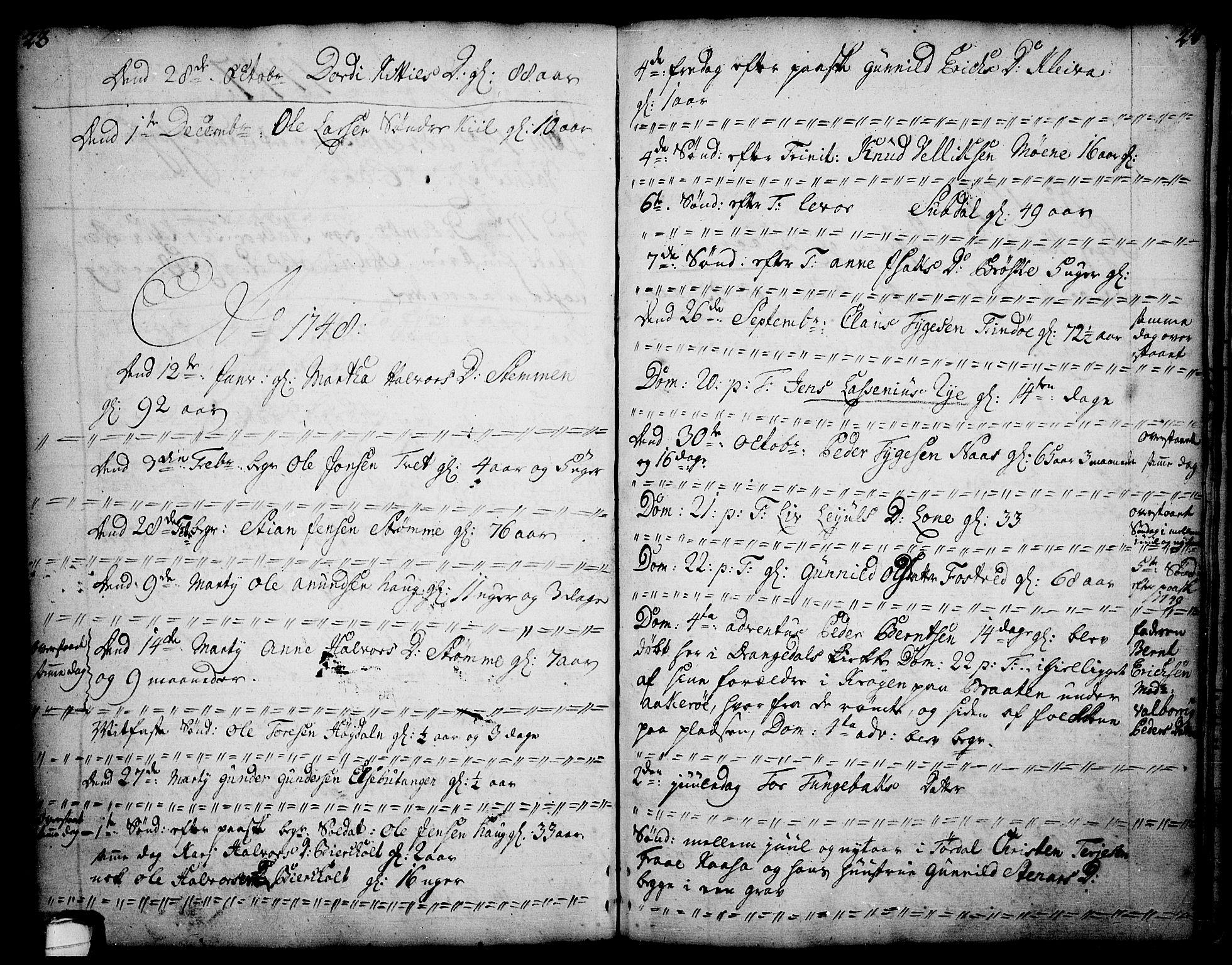 SAKO, Drangedal kirkebøker, F/Fa/L0002: Ministerialbok nr. 2, 1733-1753, s. 23-24