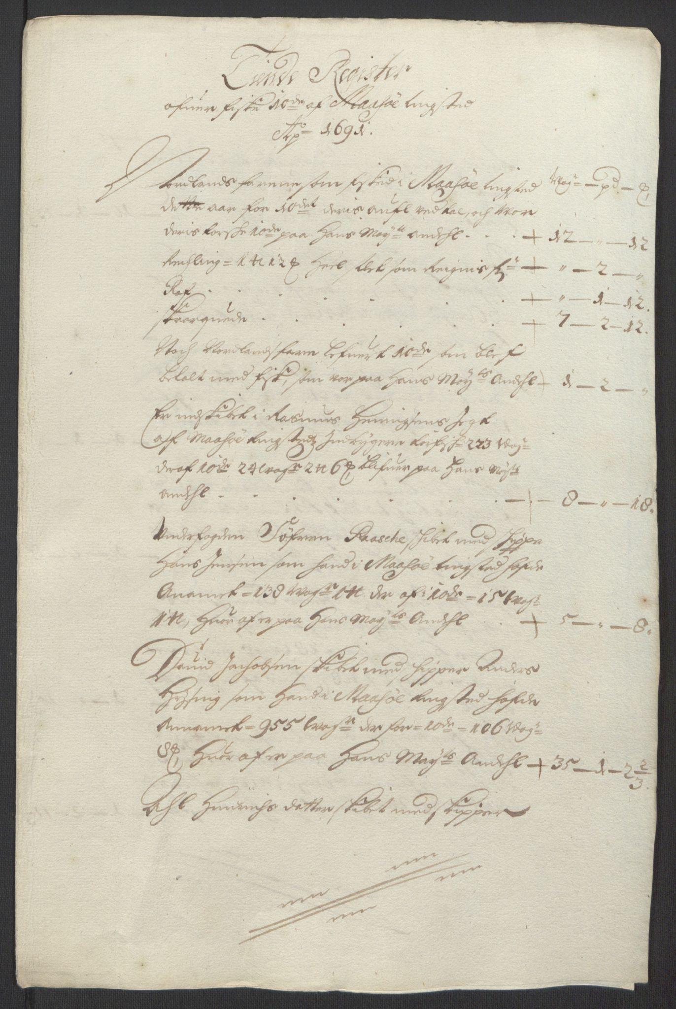 RA, Rentekammeret inntil 1814, Reviderte regnskaper, Fogderegnskap, R69/L4851: Fogderegnskap Finnmark/Vardøhus, 1691-1700, s. 40