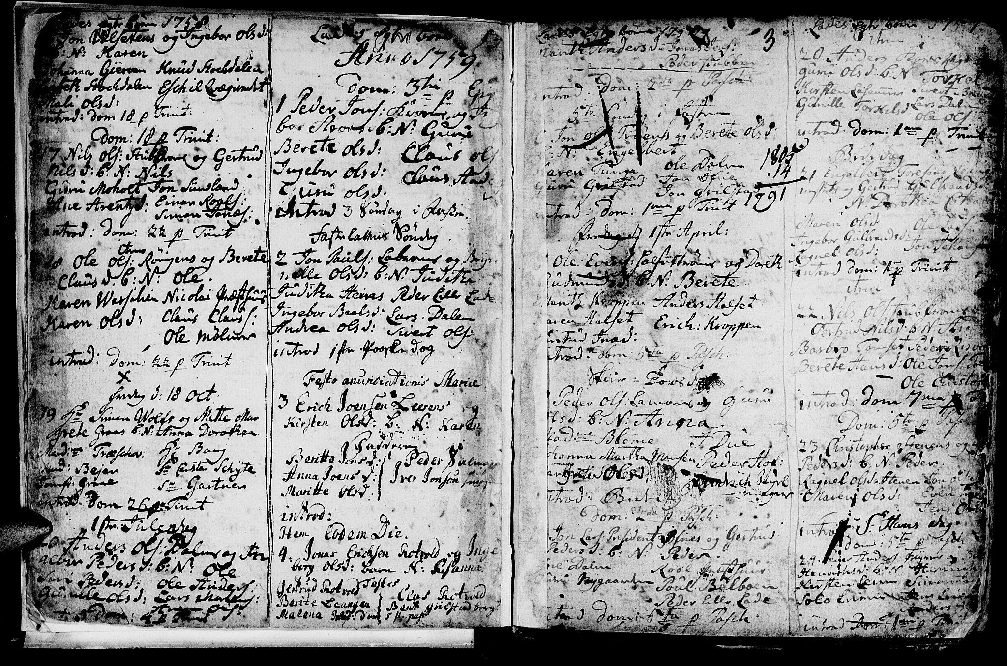 SAT, Ministerialprotokoller, klokkerbøker og fødselsregistre - Sør-Trøndelag, 606/L0305: Klokkerbok nr. 606C01, 1757-1819, s. 3