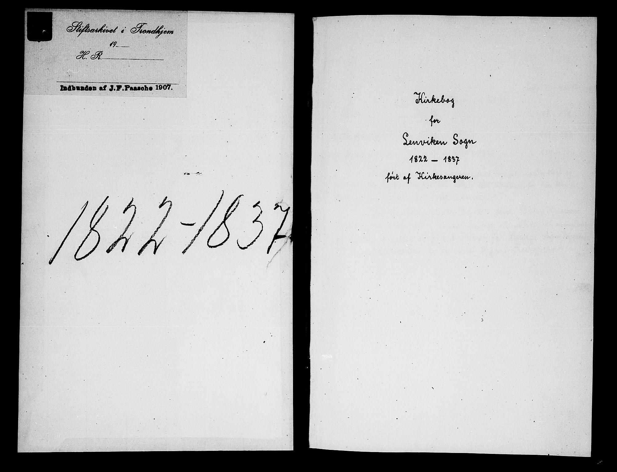 SATØ, Lenvik sokneprestembete, H/Ha: Klokkerbok nr. 1, 1822-1837