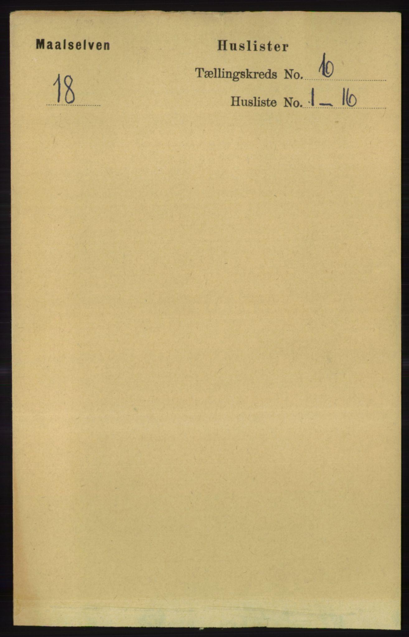 RA, Folketelling 1891 for 1924 Målselv herred, 1891, s. 2016