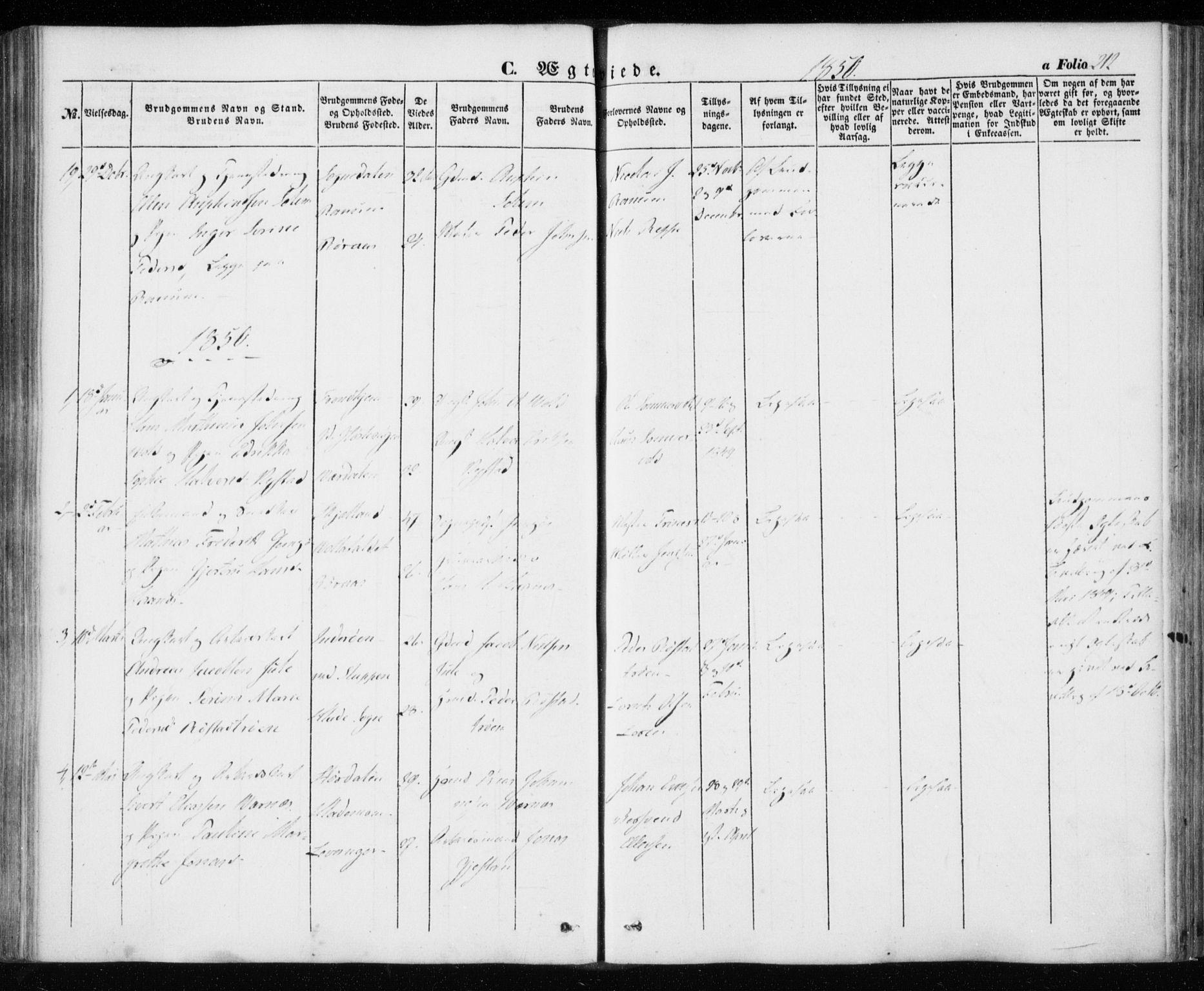 SAT, Ministerialprotokoller, klokkerbøker og fødselsregistre - Sør-Trøndelag, 606/L0291: Ministerialbok nr. 606A06, 1848-1856, s. 212