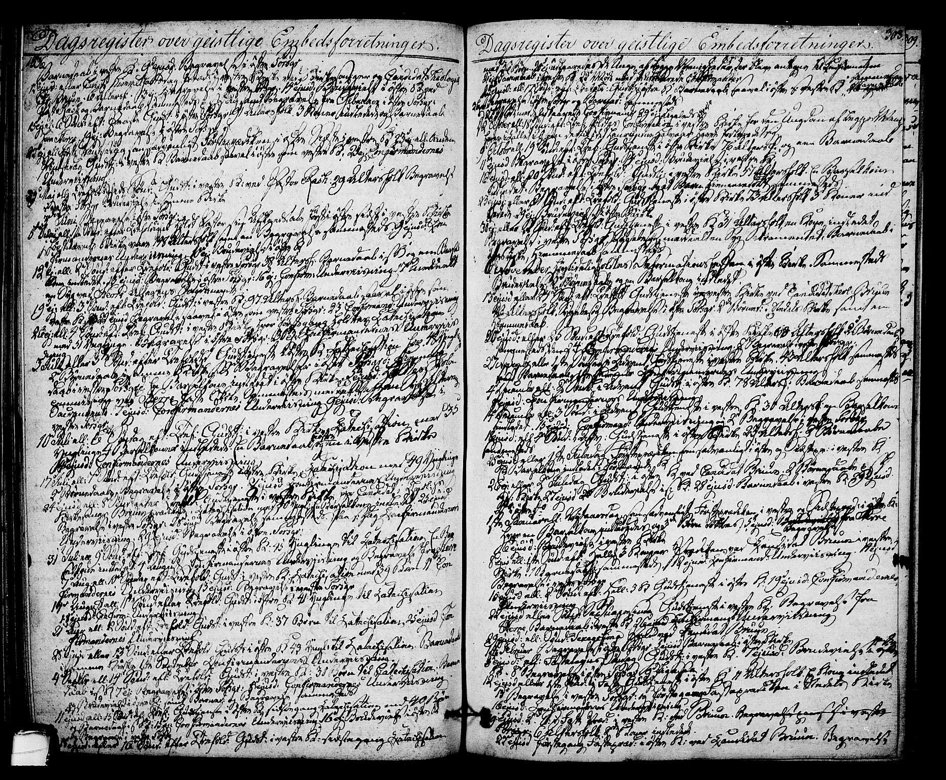 SAKO, Porsgrunn kirkebøker , F/Fa/L0005: Ministerialbok nr. 5, 1828-1840, s. 308