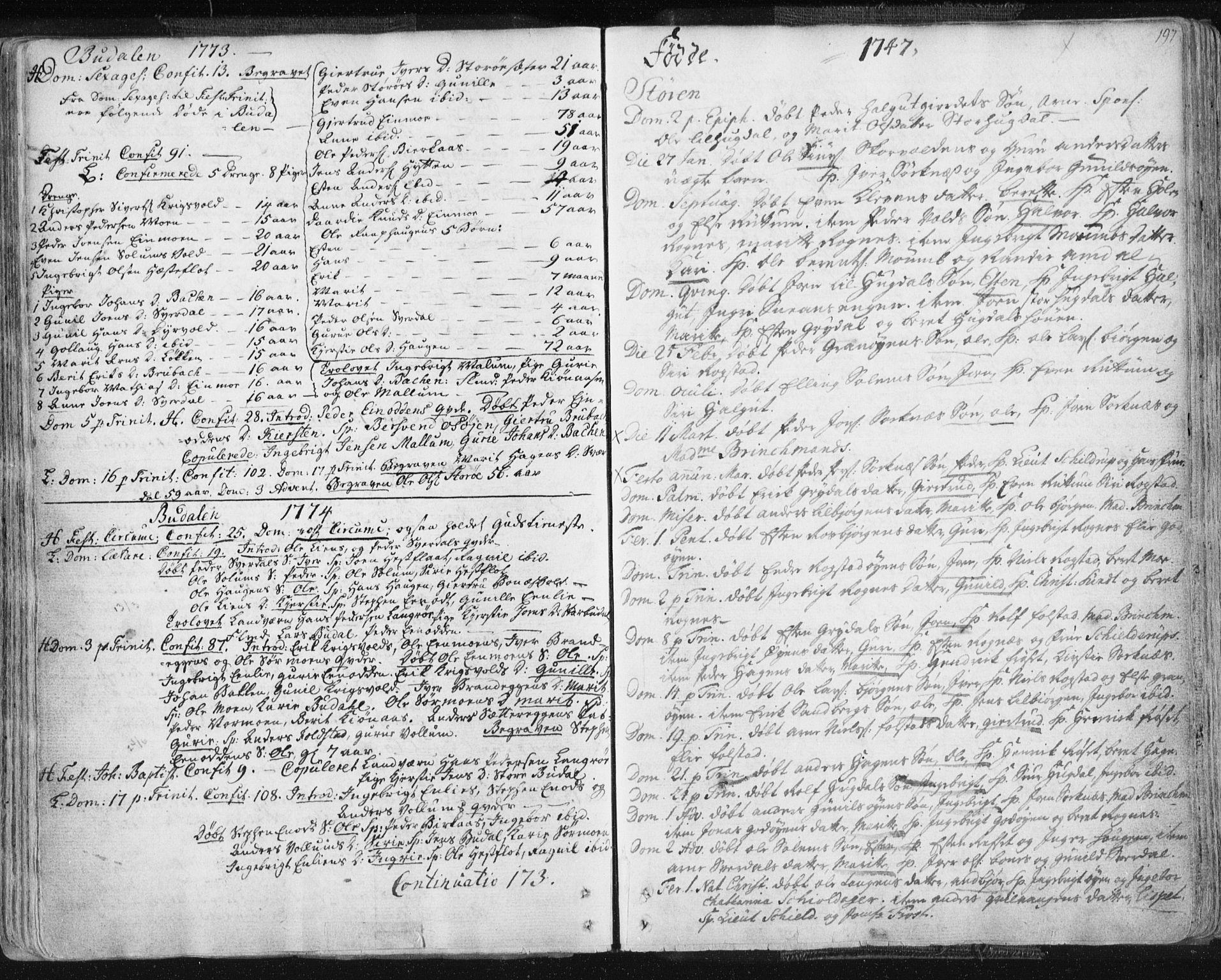 SAT, Ministerialprotokoller, klokkerbøker og fødselsregistre - Sør-Trøndelag, 687/L0991: Ministerialbok nr. 687A02, 1747-1790, s. 197
