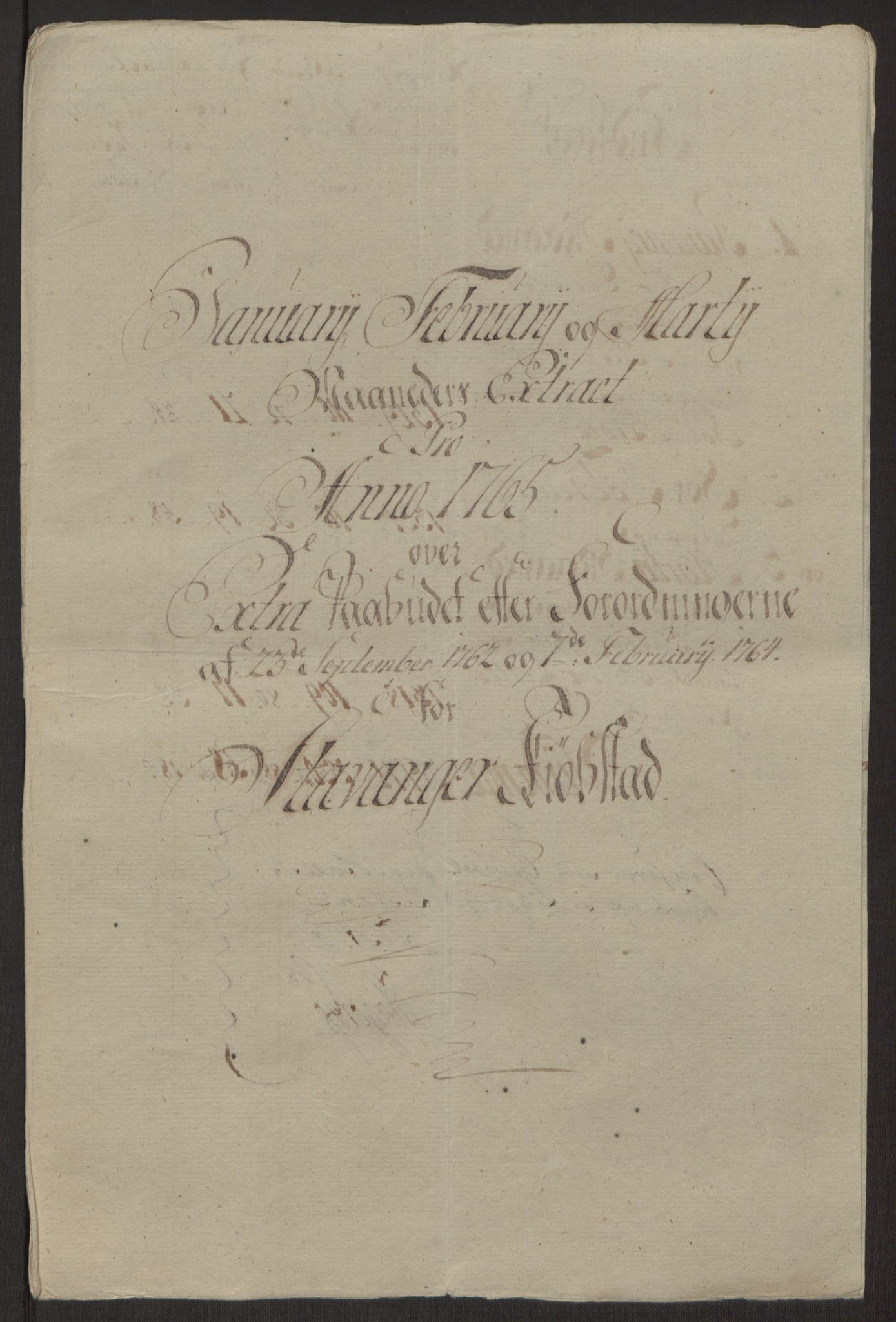 RA, Rentekammeret inntil 1814, Reviderte regnskaper, Byregnskaper, R/Ro/L0305: [O6] Kontribusjonsregnskap, 1762-1768, s. 115