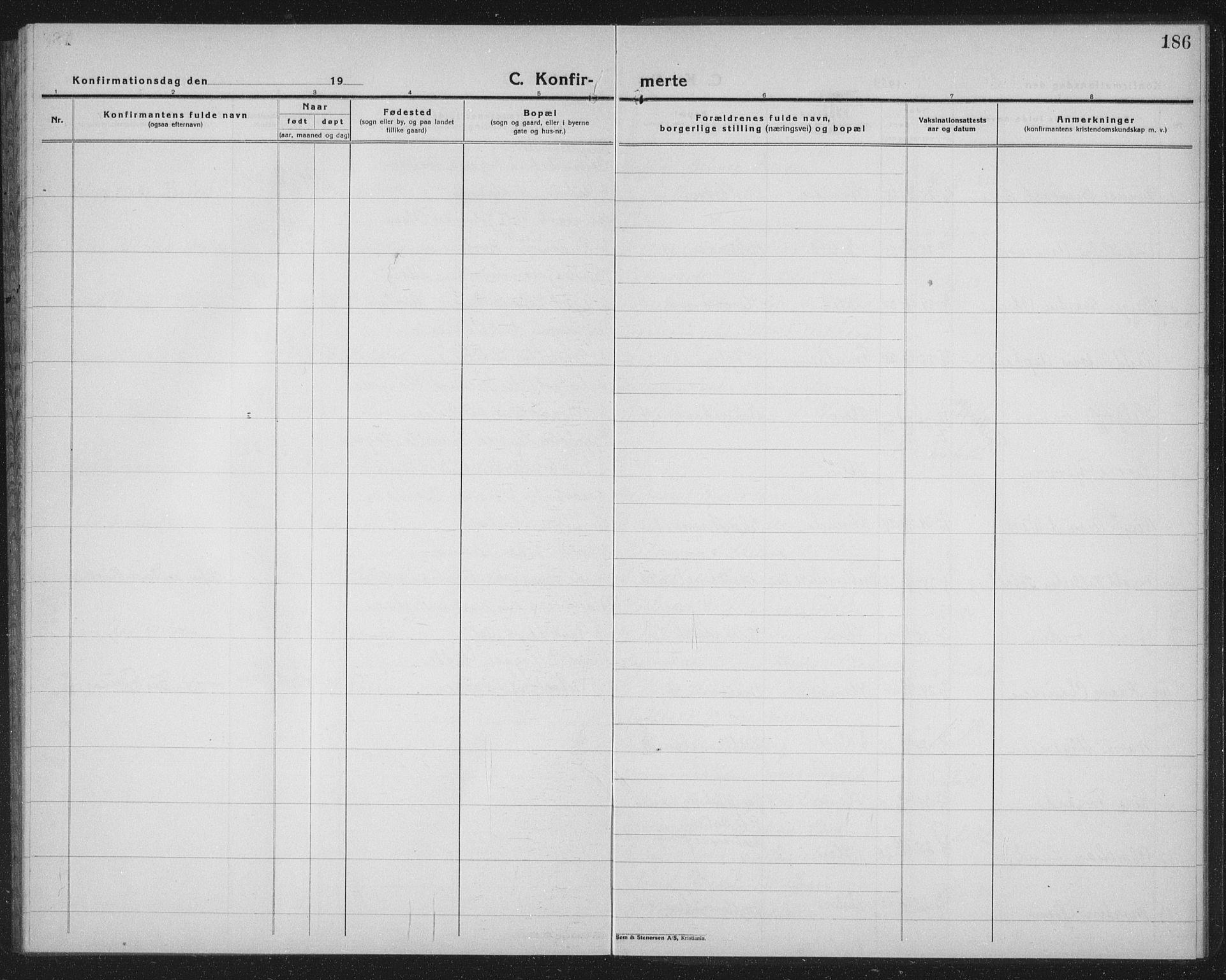 SAT, Ministerialprotokoller, klokkerbøker og fødselsregistre - Sør-Trøndelag, 603/L0175: Klokkerbok nr. 603C03, 1923-1941, s. 186