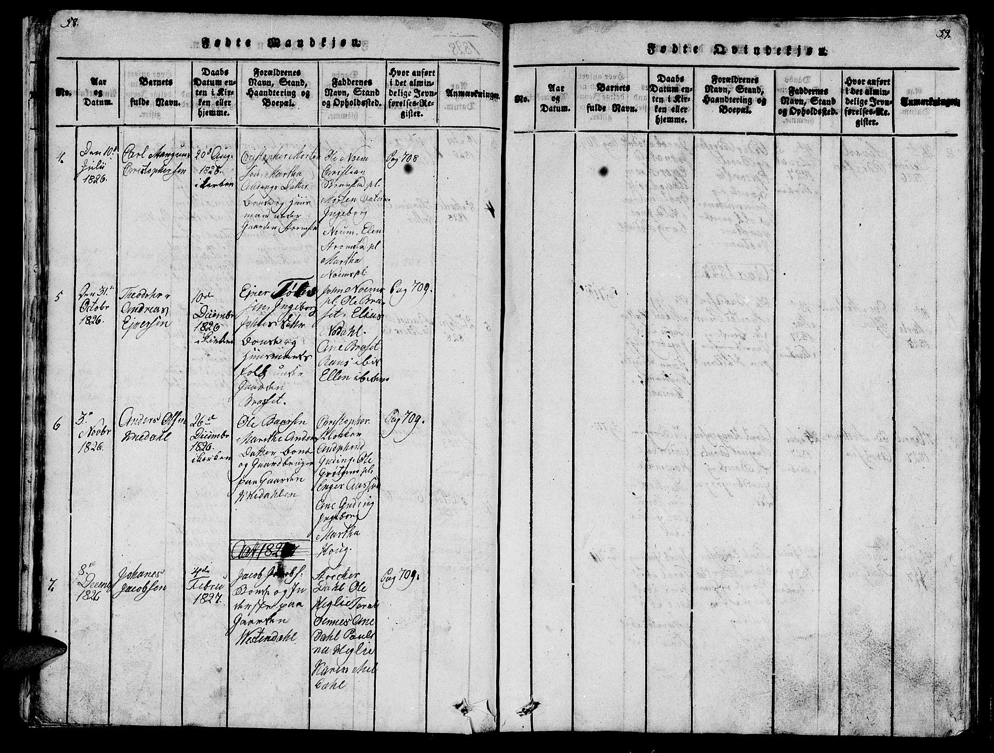 SAT, Ministerialprotokoller, klokkerbøker og fødselsregistre - Nord-Trøndelag, 747/L0459: Klokkerbok nr. 747C01, 1816-1842, s. 58-59