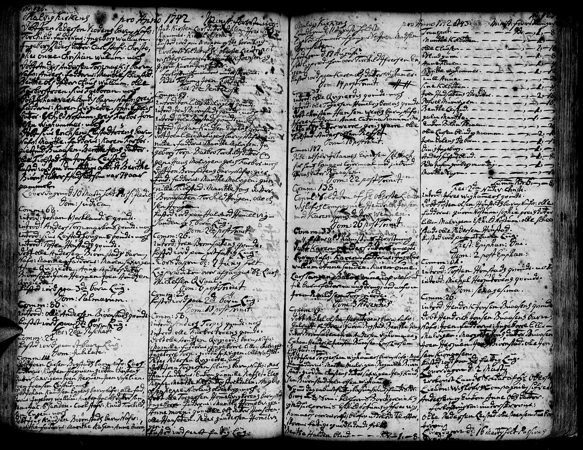 SAT, Ministerialprotokoller, klokkerbøker og fødselsregistre - Sør-Trøndelag, 606/L0277: Ministerialbok nr. 606A01 /3, 1727-1780, s. 426-427