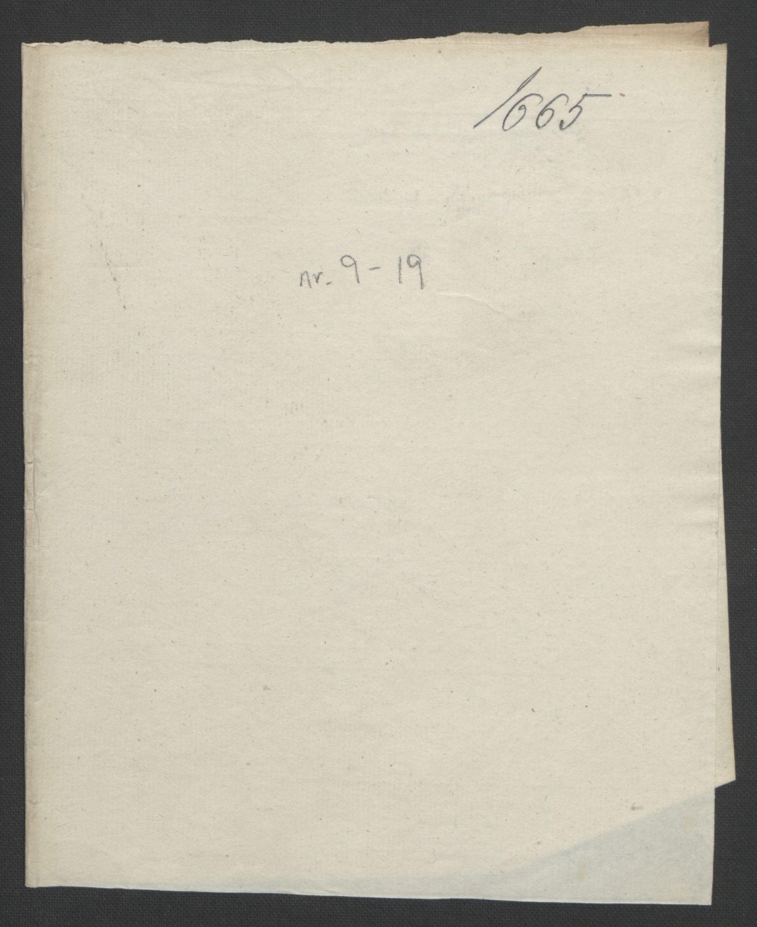 RA, Rentekammeret inntil 1814, Reviderte regnskaper, Fogderegnskap, R32/L1842: Fogderegnskap Jarlsberg grevskap, 1664-1673, s. 19