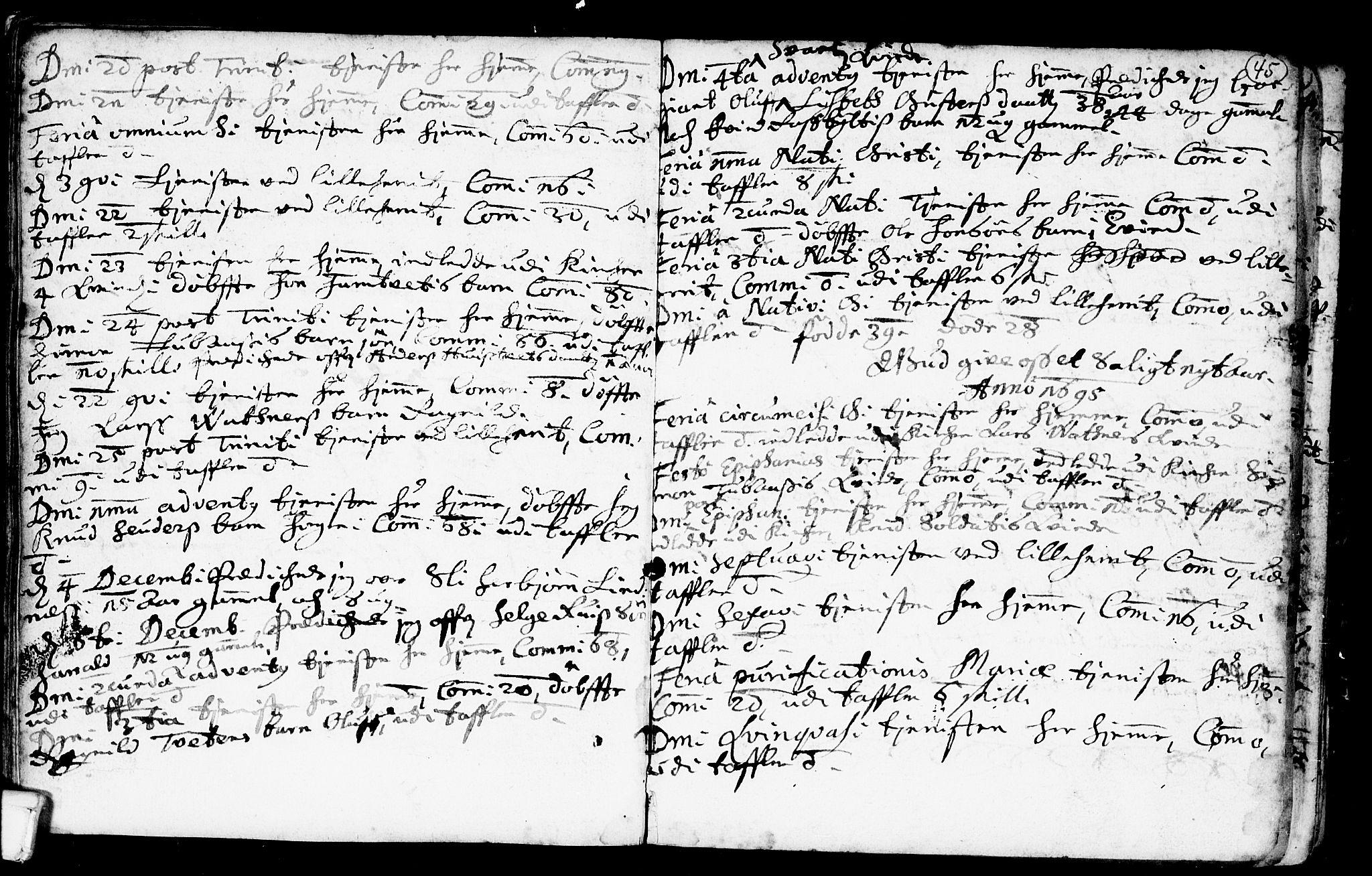 SAKO, Heddal kirkebøker, F/Fa/L0001: Ministerialbok nr. I 1, 1648-1699, s. 45