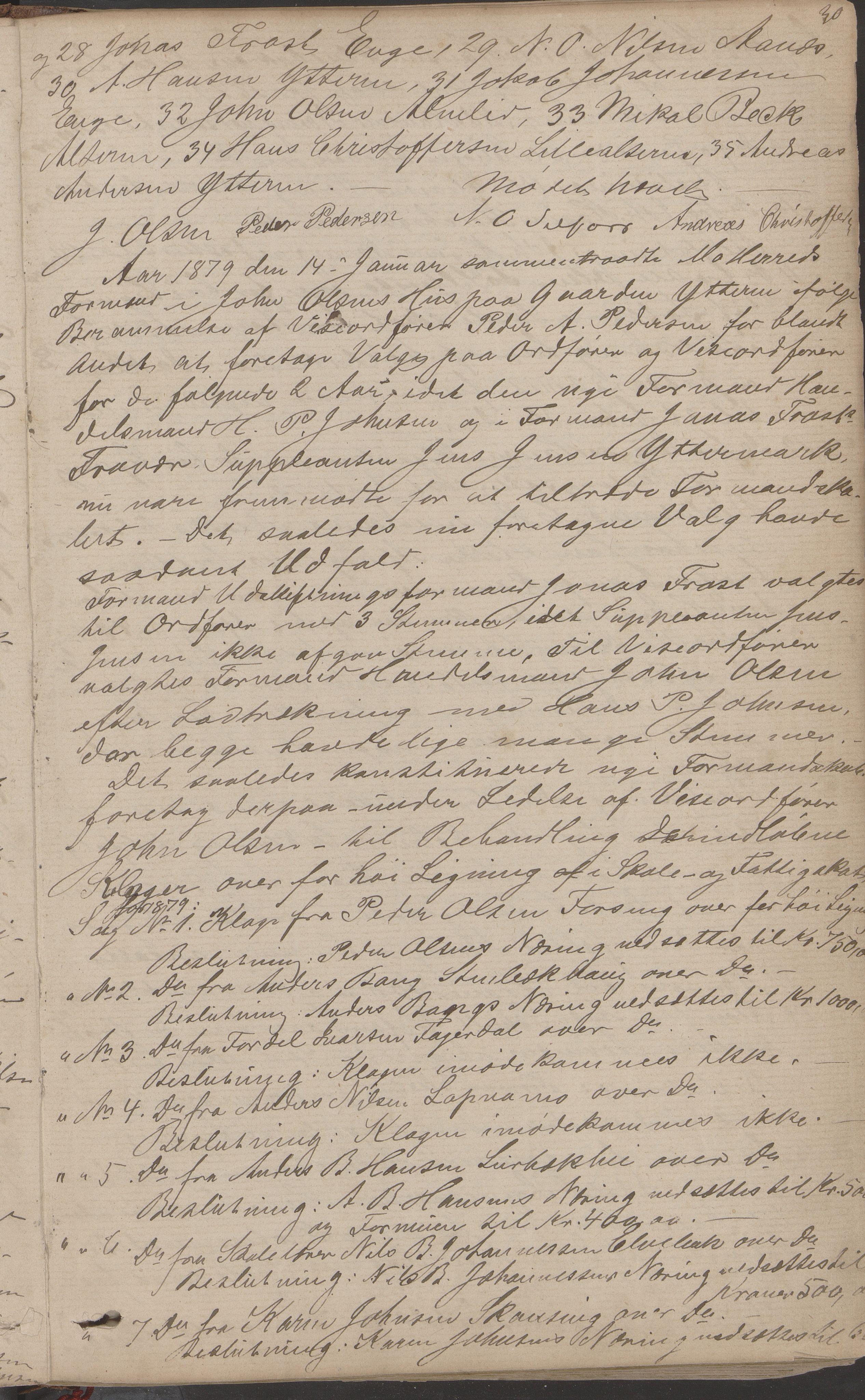 AIN, Mo kommune. Formannskapet, A/Aa/L0002: Møtebok, 1876-1891, s. 30