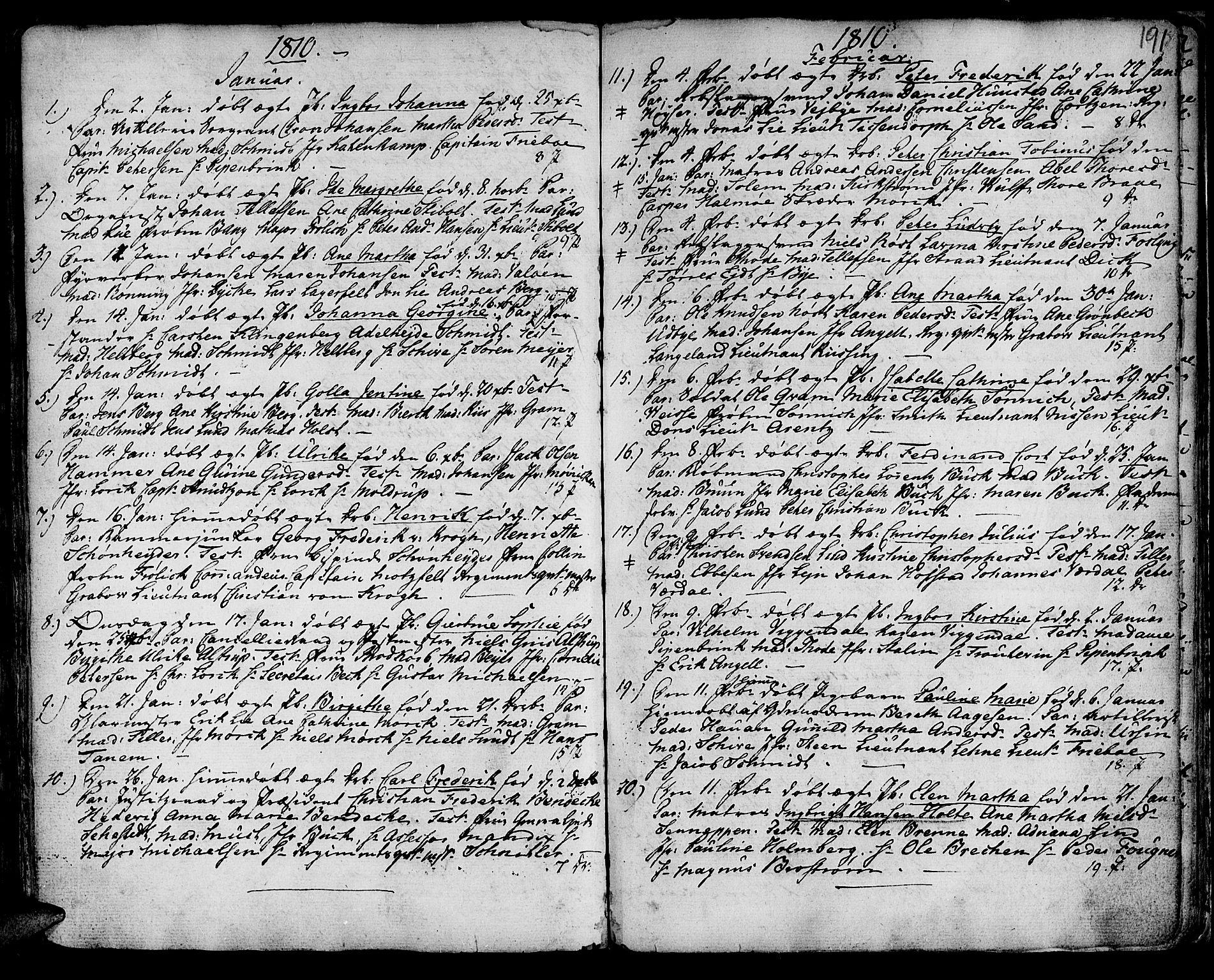 SAT, Ministerialprotokoller, klokkerbøker og fødselsregistre - Sør-Trøndelag, 601/L0039: Ministerialbok nr. 601A07, 1770-1819, s. 191
