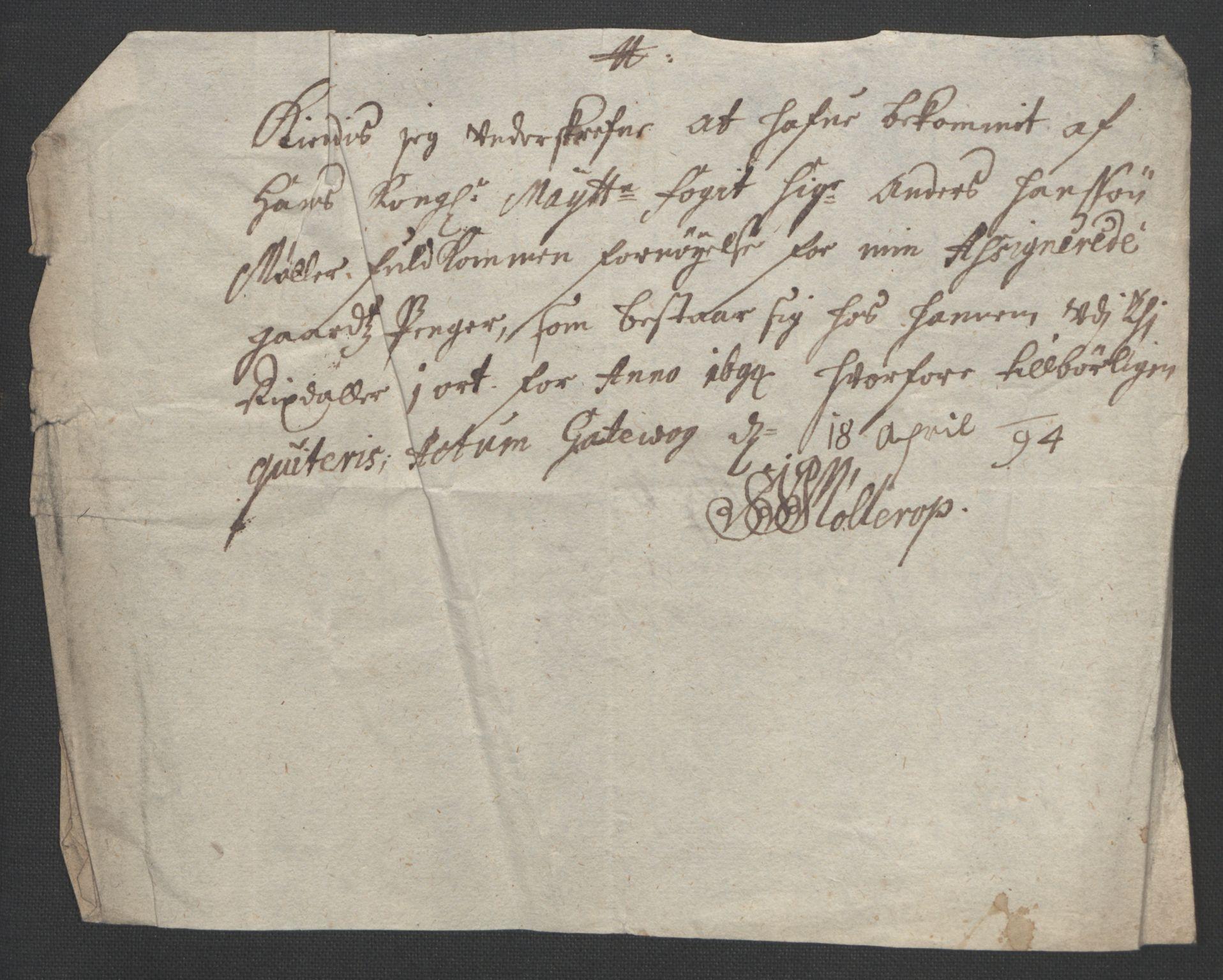 RA, Rentekammeret inntil 1814, Reviderte regnskaper, Fogderegnskap, R54/L3555: Fogderegnskap Sunnmøre, 1694-1695, s. 176