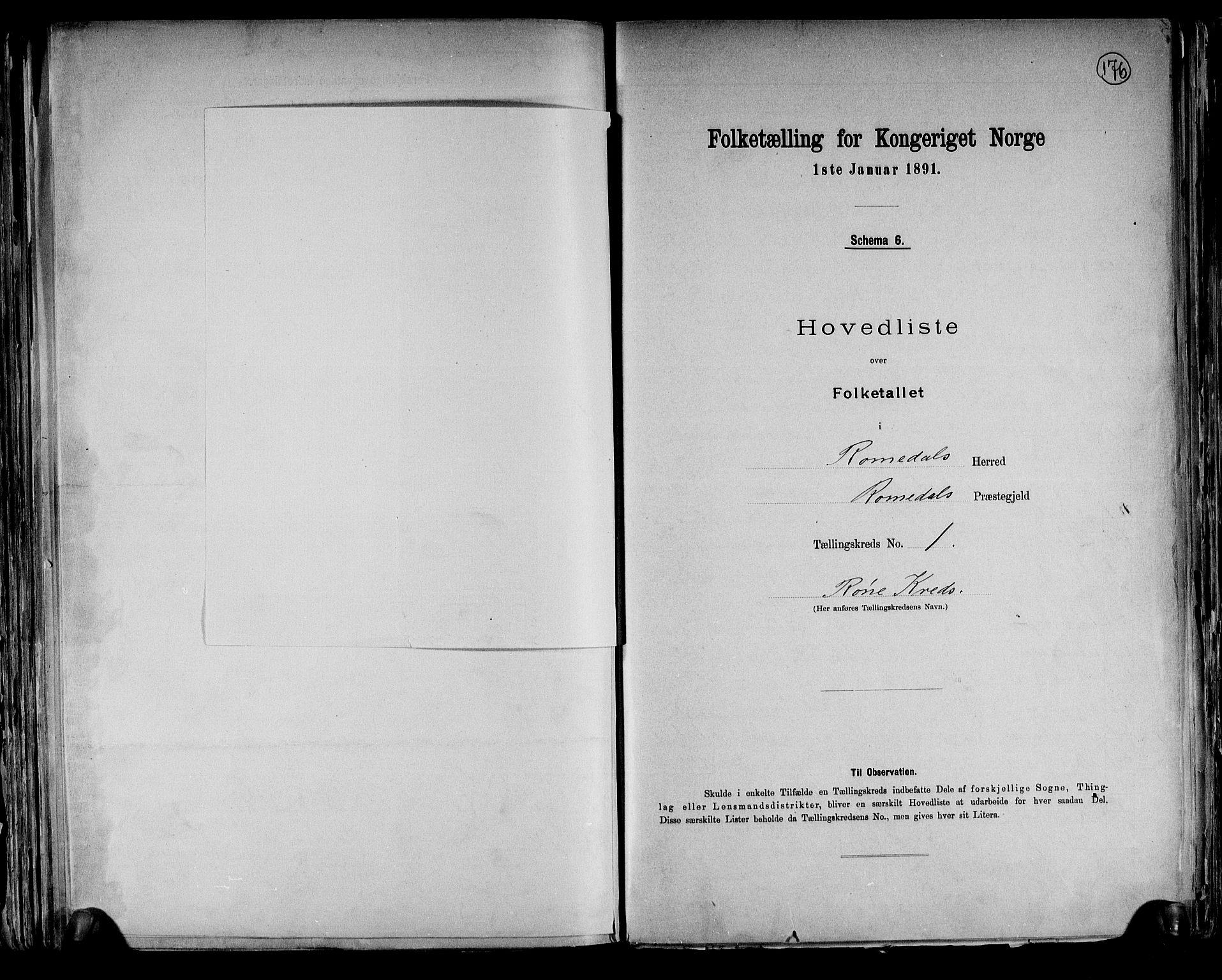 RA, Folketelling 1891 for 0416 Romedal herred, 1891, s. 5