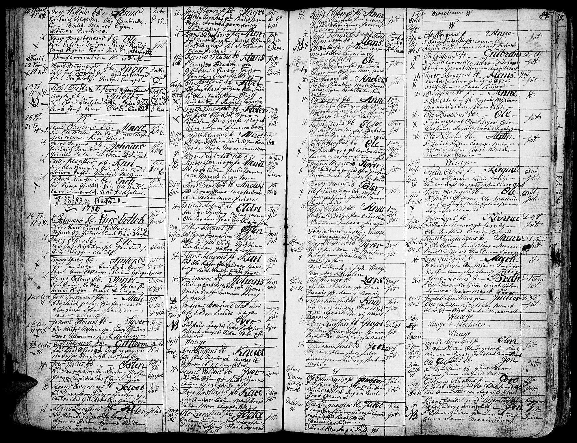 SAH, Vågå prestekontor, Ministerialbok nr. 1, 1739-1810, s. 84