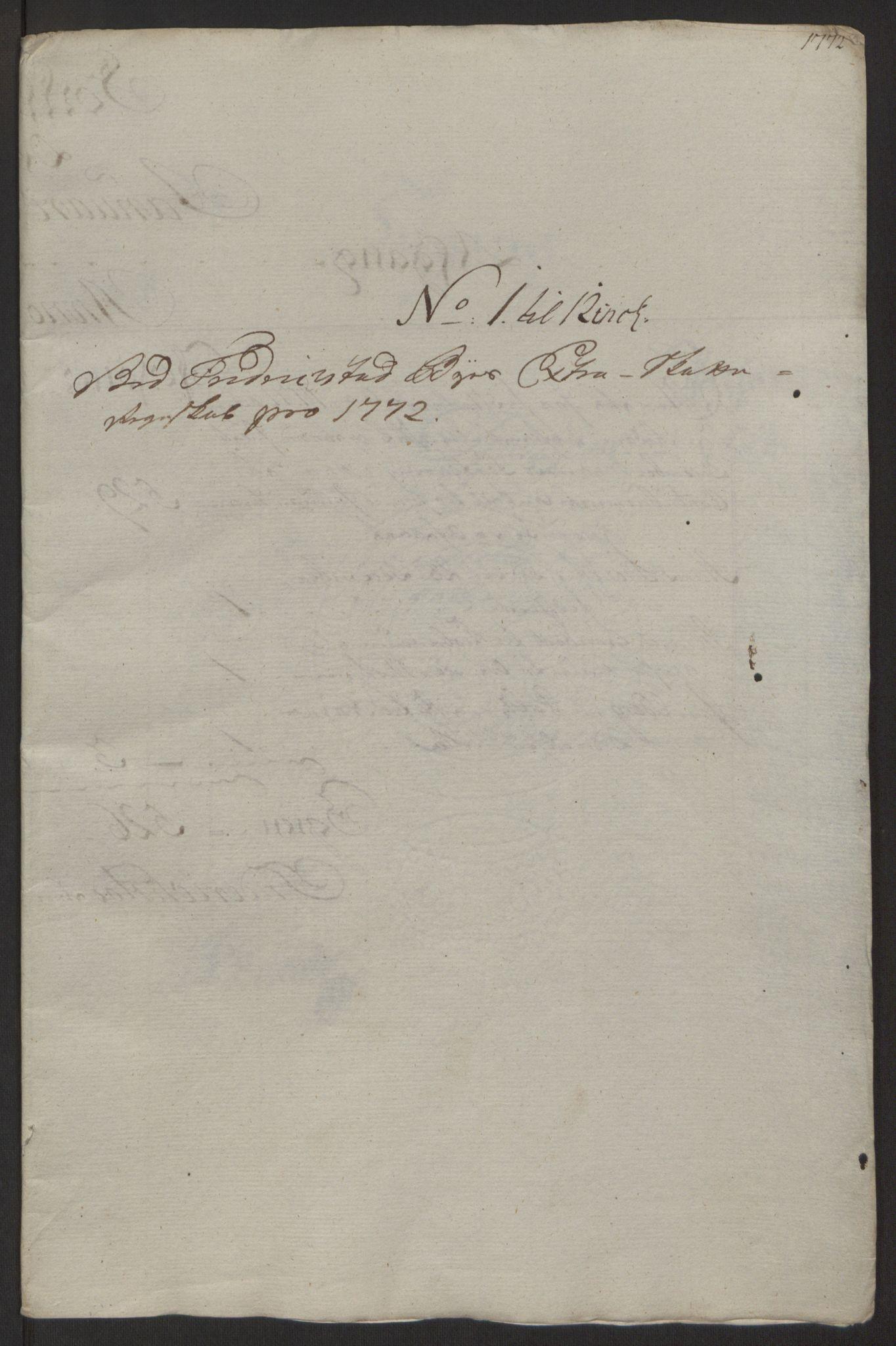 RA, Rentekammeret inntil 1814, Reviderte regnskaper, Byregnskaper, R/Rb/L0029: [B3] Kontribusjonsregnskap, 1762-1772, s. 407