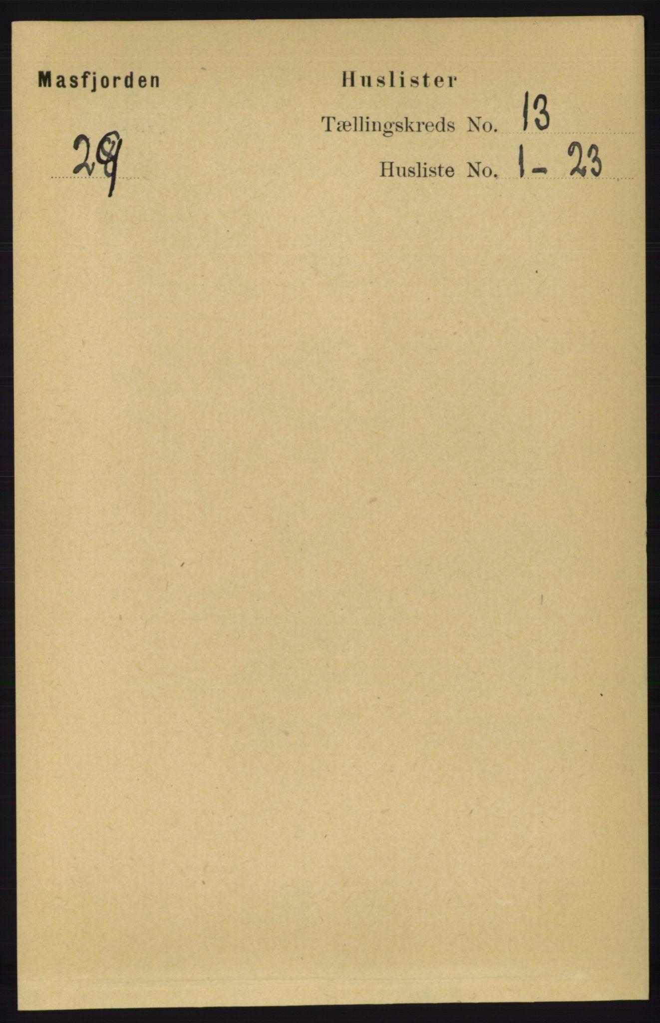 RA, Folketelling 1891 for 1266 Masfjorden herred, 1891, s. 2602