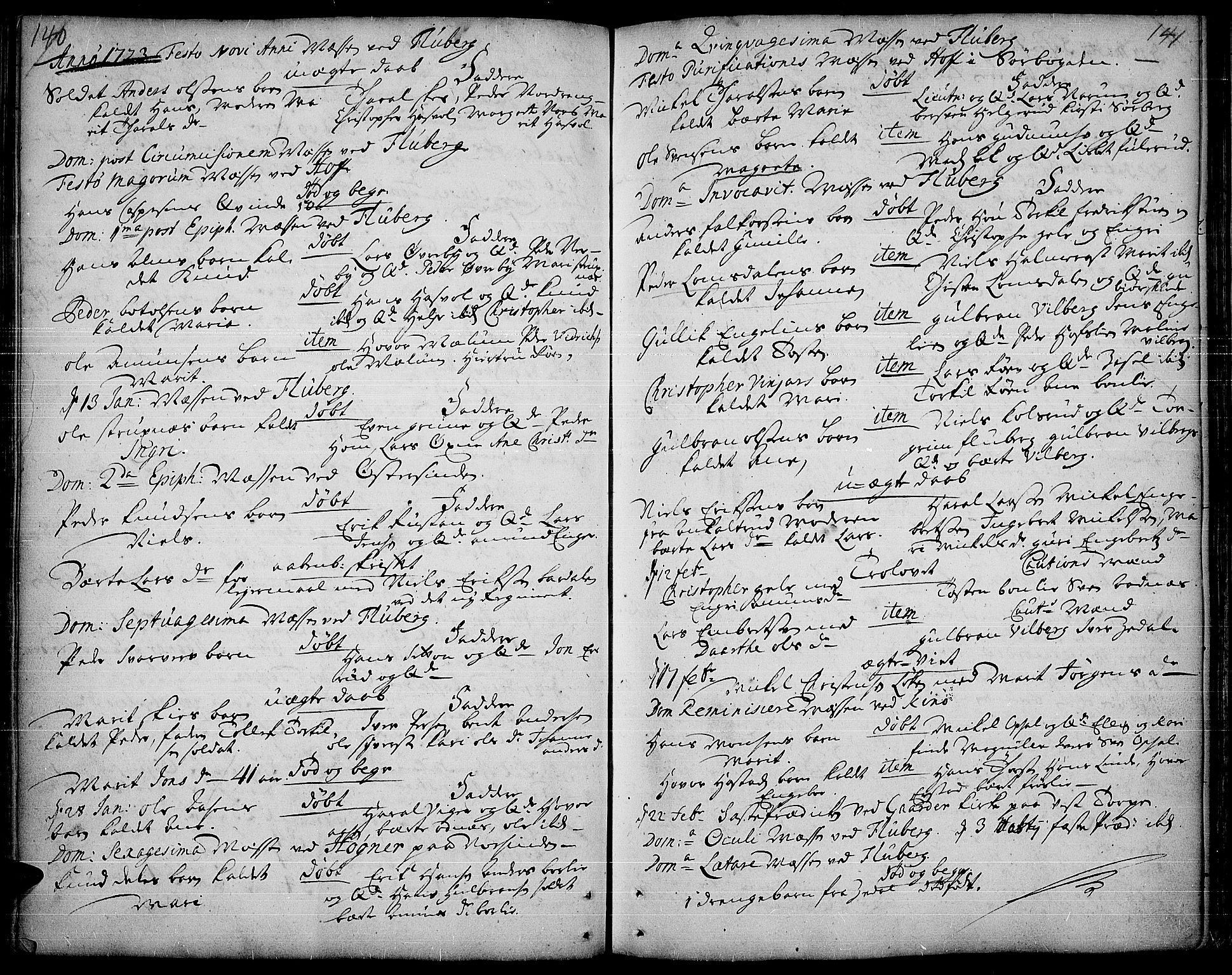 SAH, Land prestekontor, Ministerialbok nr. 1, 1708-1732, s. 140-141