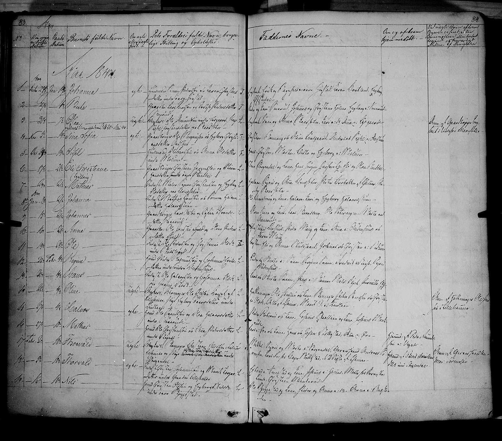 SAH, Fåberg prestekontor, Ministerialbok nr. 5, 1836-1854, s. 83-84