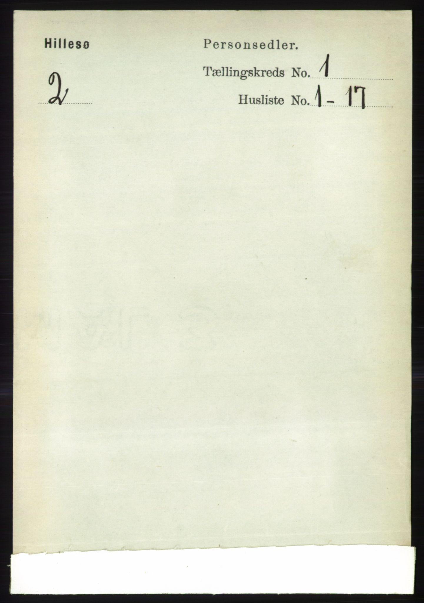 RA, Folketelling 1891 for 1930 Hillesøy herred, 1891, s. 85
