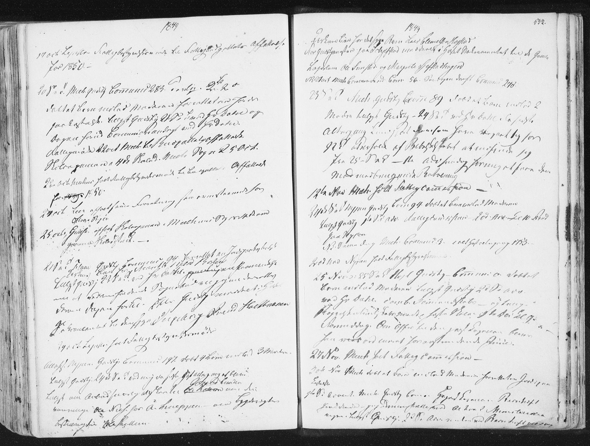 SAT, Ministerialprotokoller, klokkerbøker og fødselsregistre - Sør-Trøndelag, 691/L1074: Ministerialbok nr. 691A06, 1842-1852, s. 533