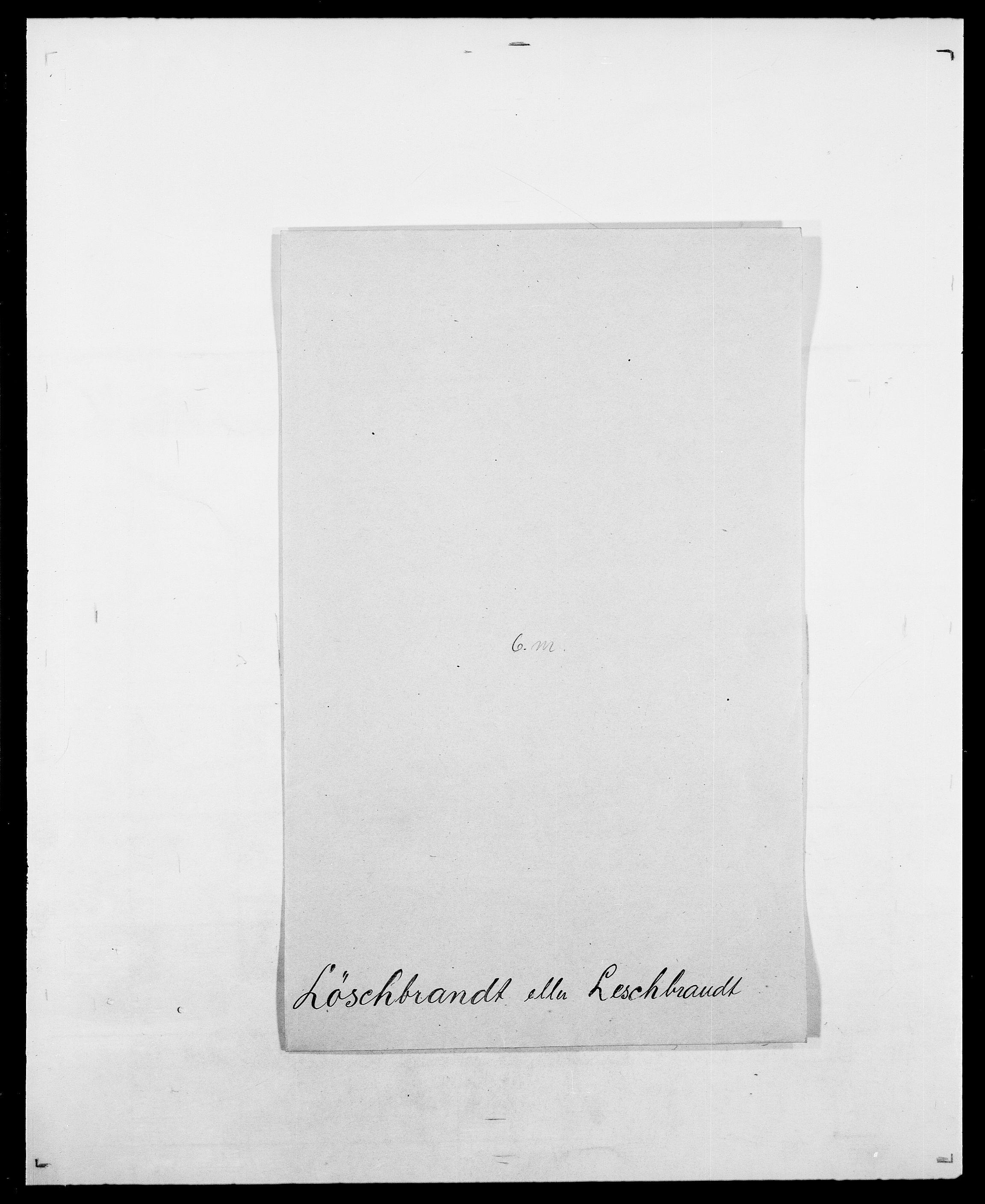 SAO, Delgobe, Charles Antoine - samling, D/Da/L0025: Løberg - Mazar, s. 69