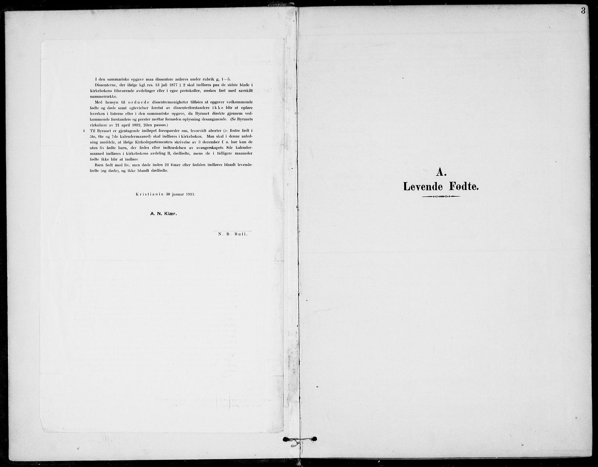 SAKO, Sigdal kirkebøker, F/Fb/L0002: Ministerialbok nr. II 2, 1901-1914, s. 3