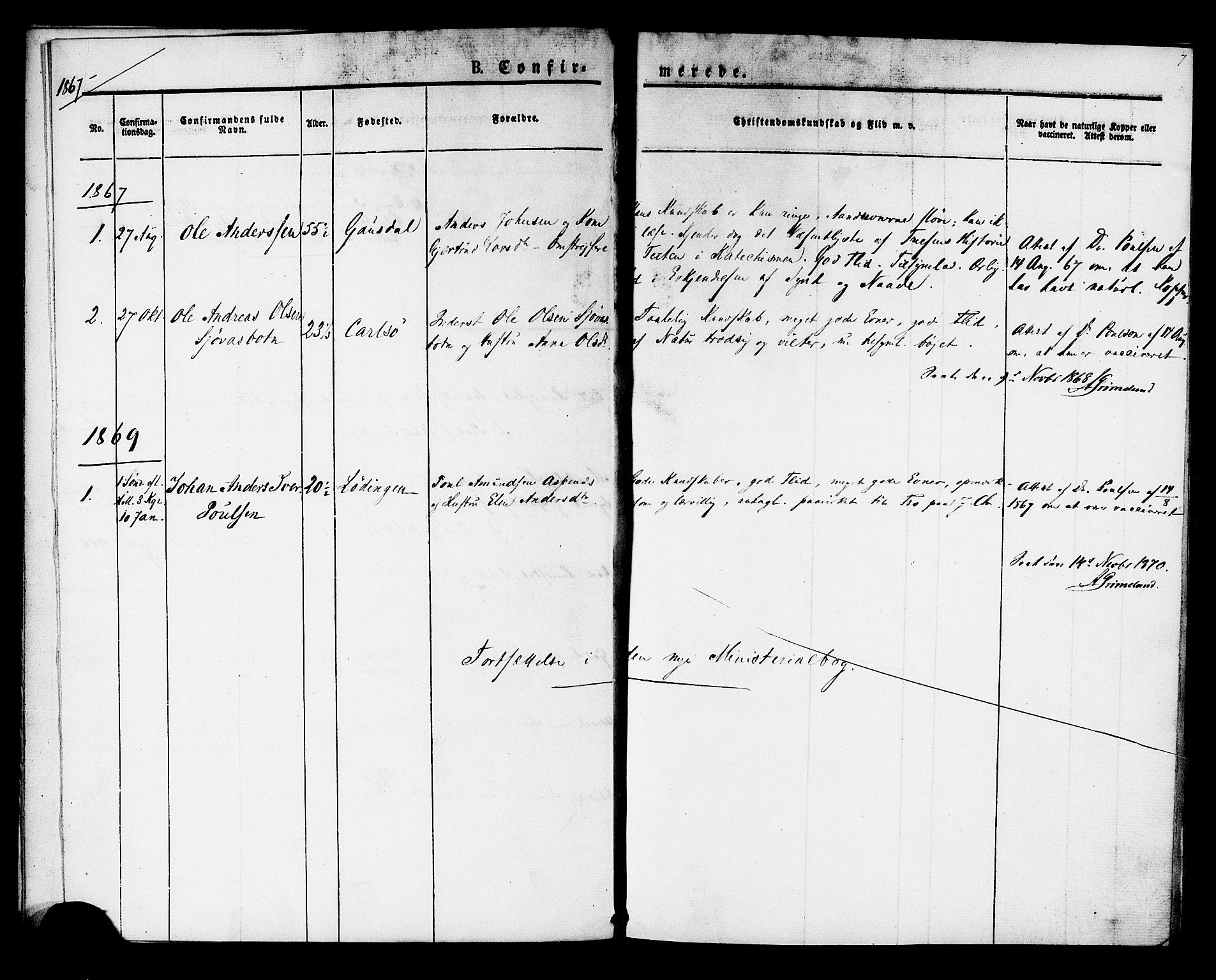 SAT, Ministerialprotokoller, klokkerbøker og fødselsregistre - Sør-Trøndelag, 624/L0481: Ministerialbok nr. 624A02, 1841-1869, s. 7