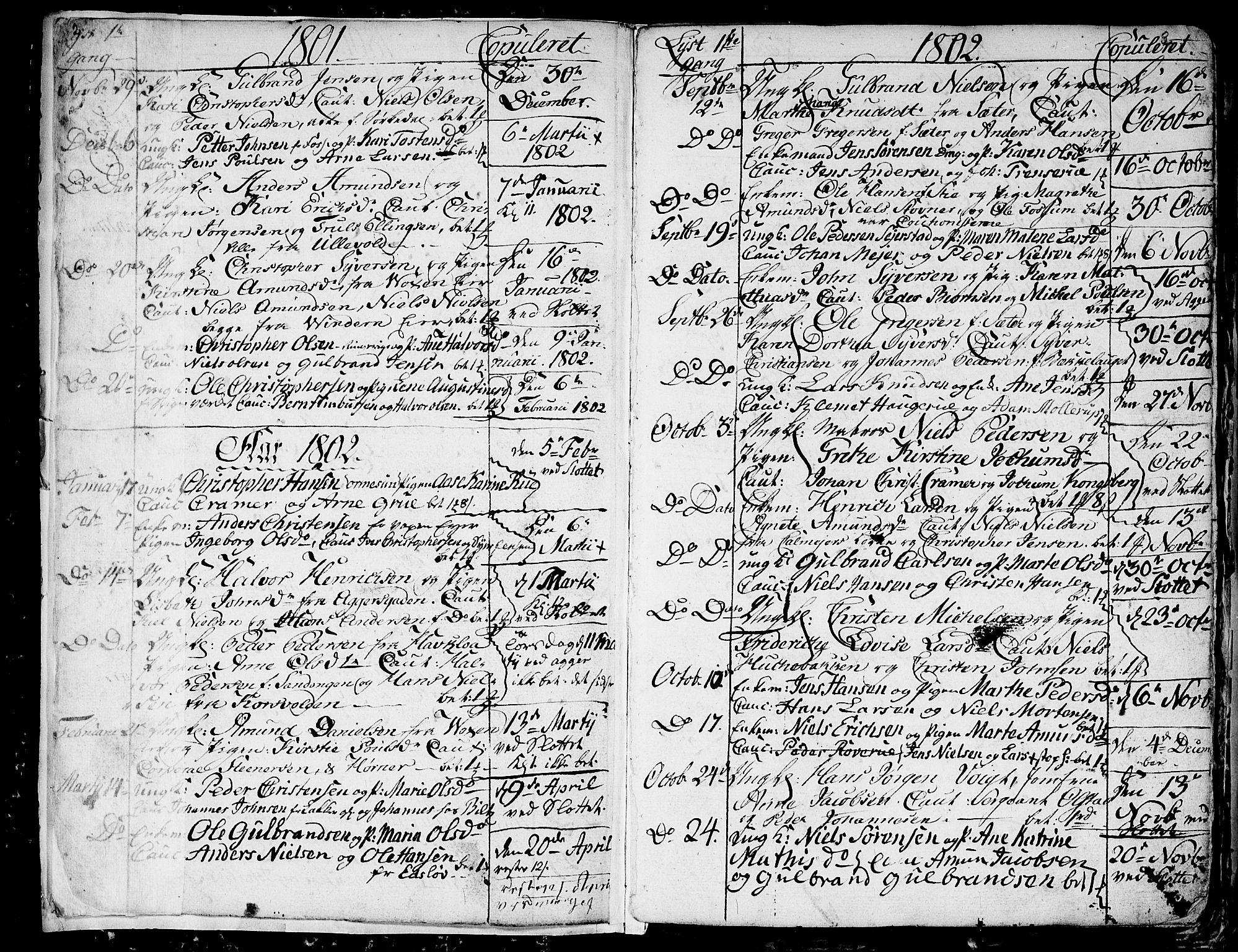 SAO, Aker prestekontor kirkebøker, G/L0001: Klokkerbok nr. 1, 1796-1826, s. 2-3