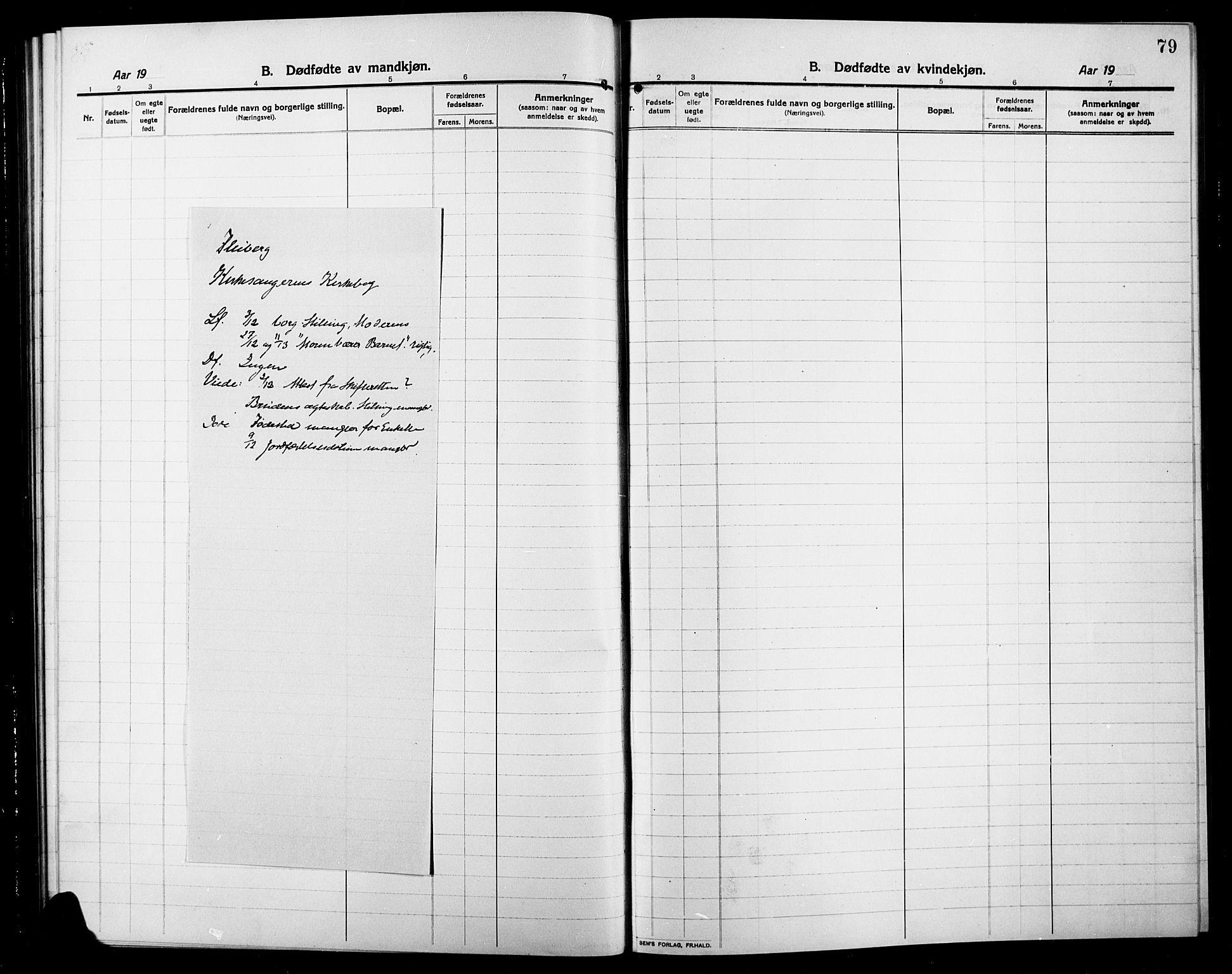 SAH, Søndre Land prestekontor, L/L0006: Klokkerbok nr. 6, 1912-1925, s. 79