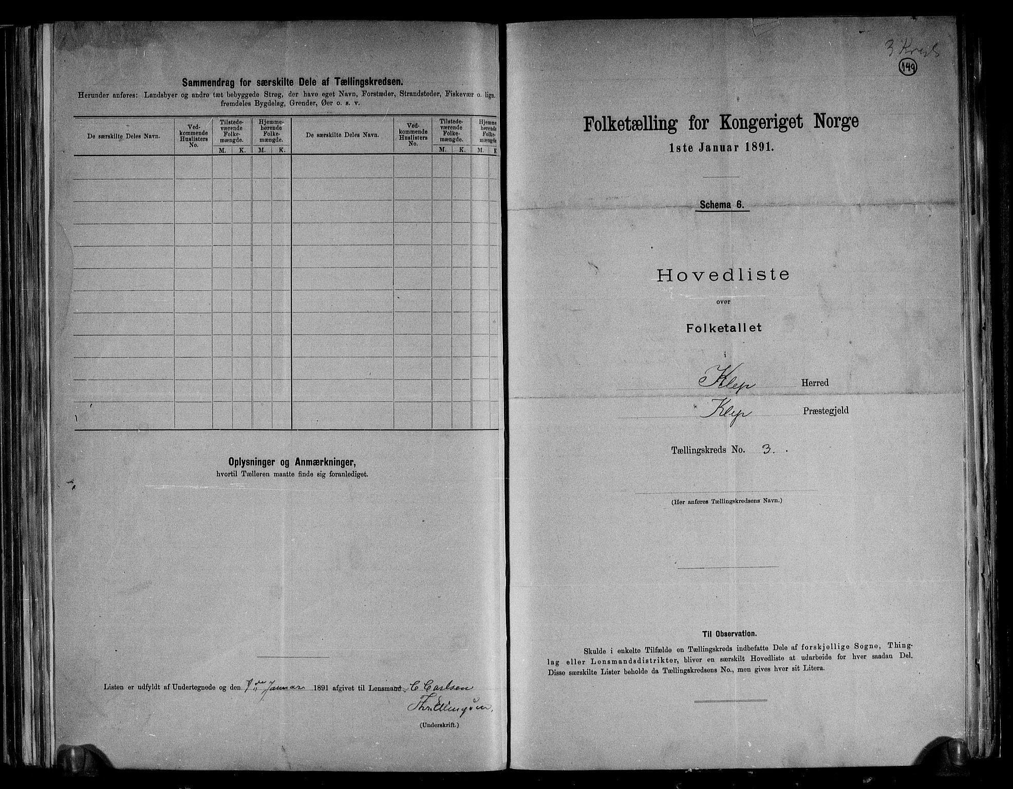 RA, Folketelling 1891 for 1120 Klepp herred, 1891, s. 10