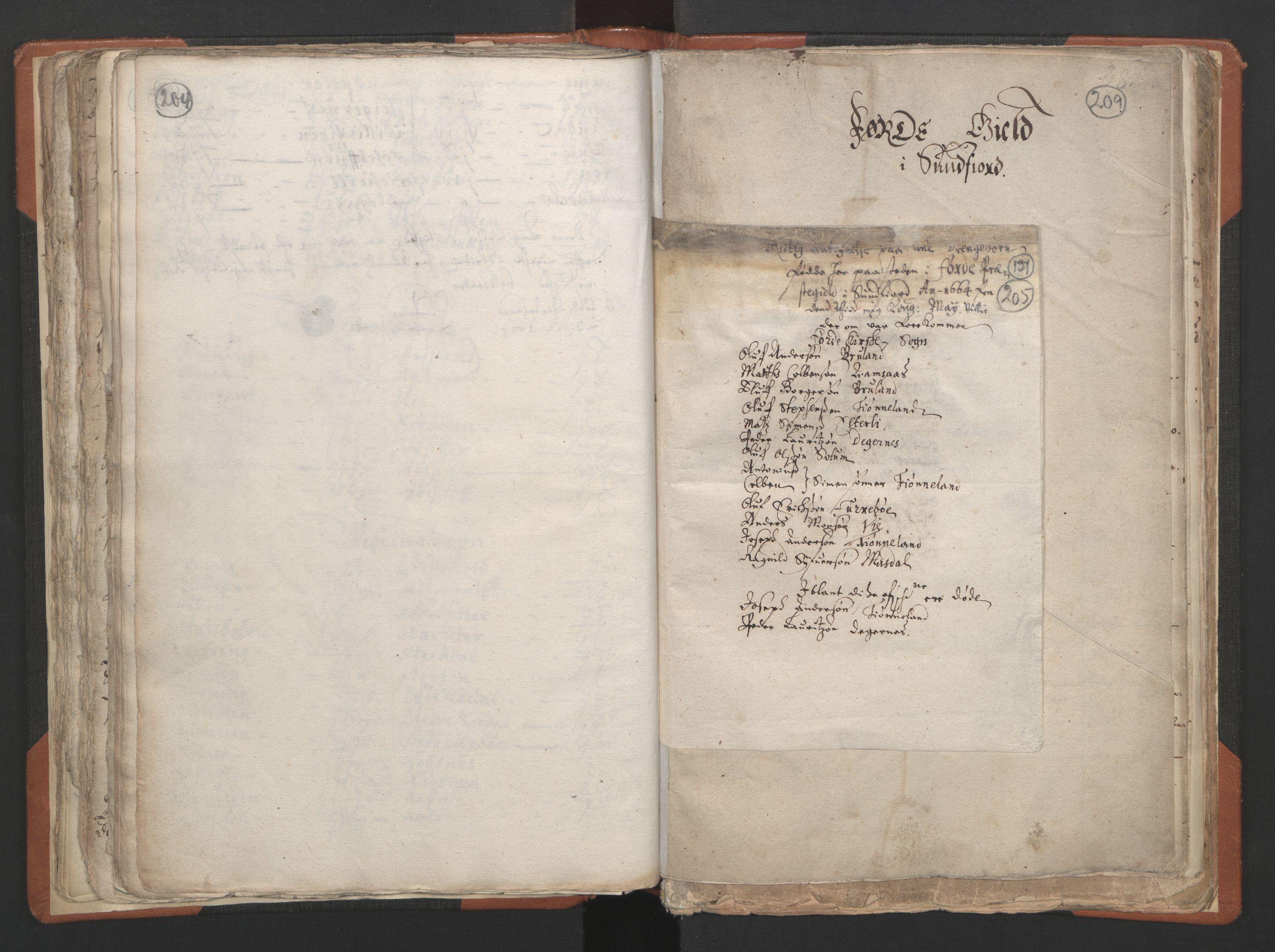 RA, Sogneprestenes manntall 1664-1666, nr. 24: Sunnfjord prosti, 1664-1666, s. 204-205