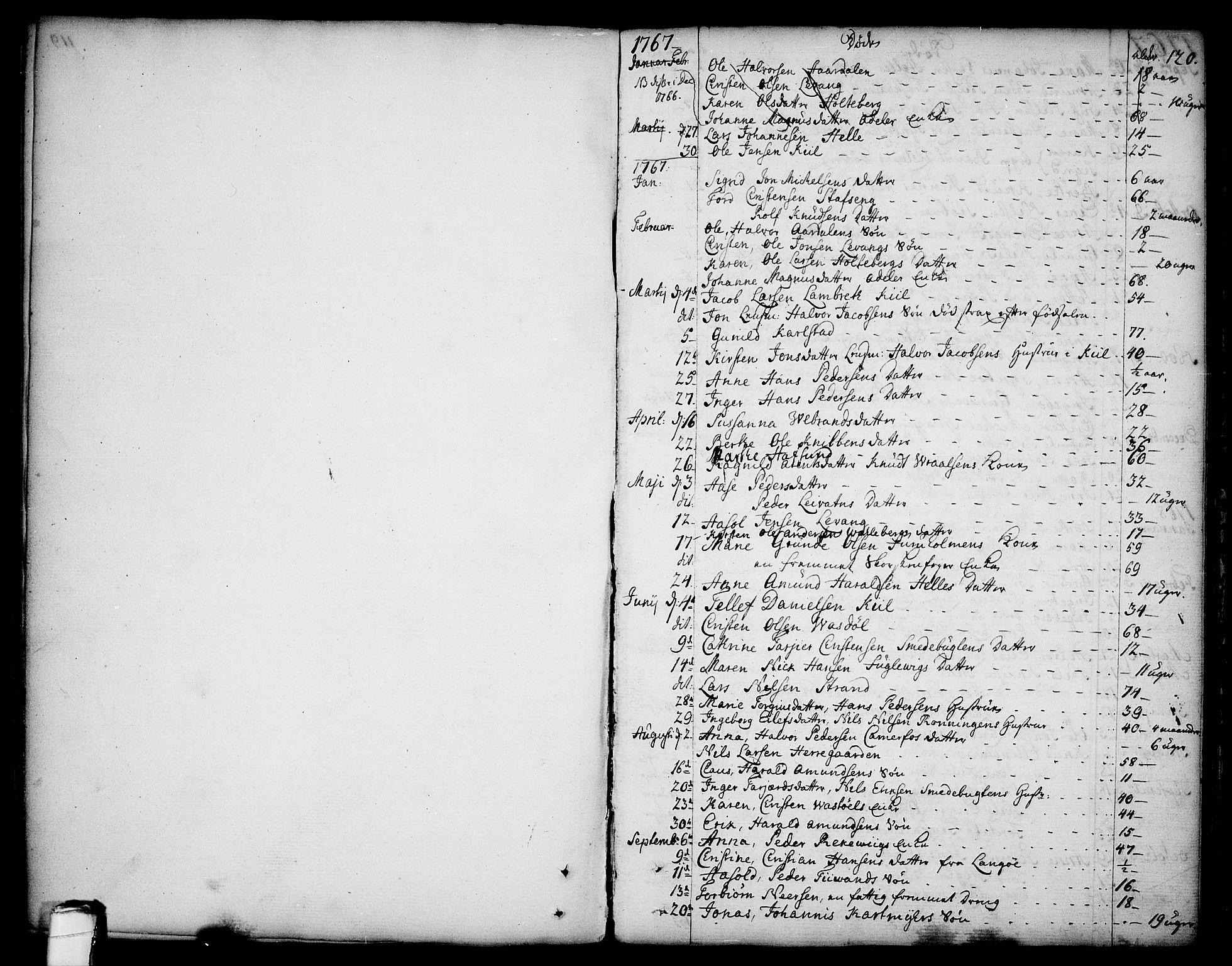 SAKO, Sannidal kirkebøker, F/Fa/L0002: Ministerialbok nr. 2, 1767-1802, s. 120