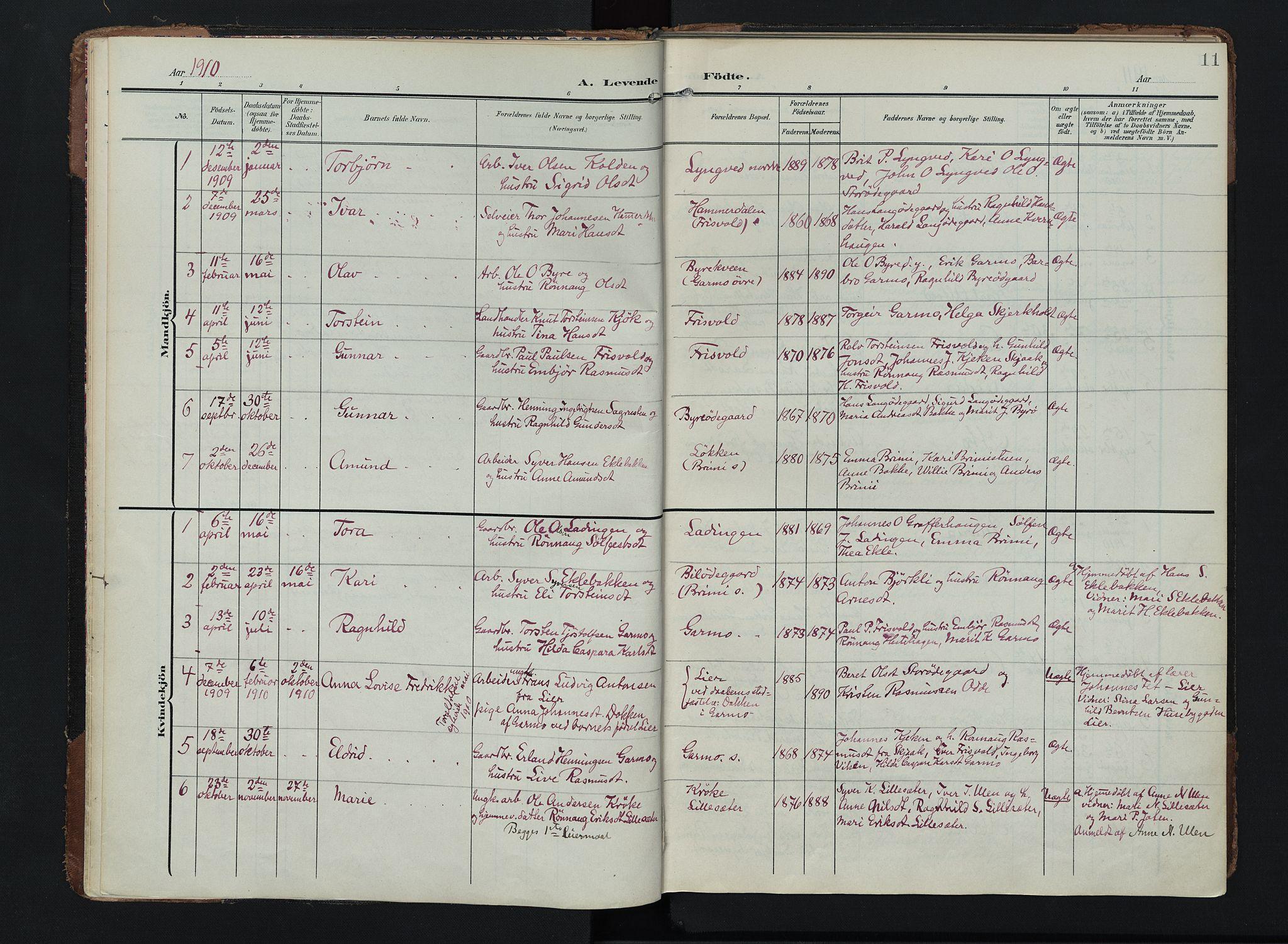 SAH, Lom prestekontor, K/L0011: Ministerialbok nr. 11, 1904-1928, s. 11