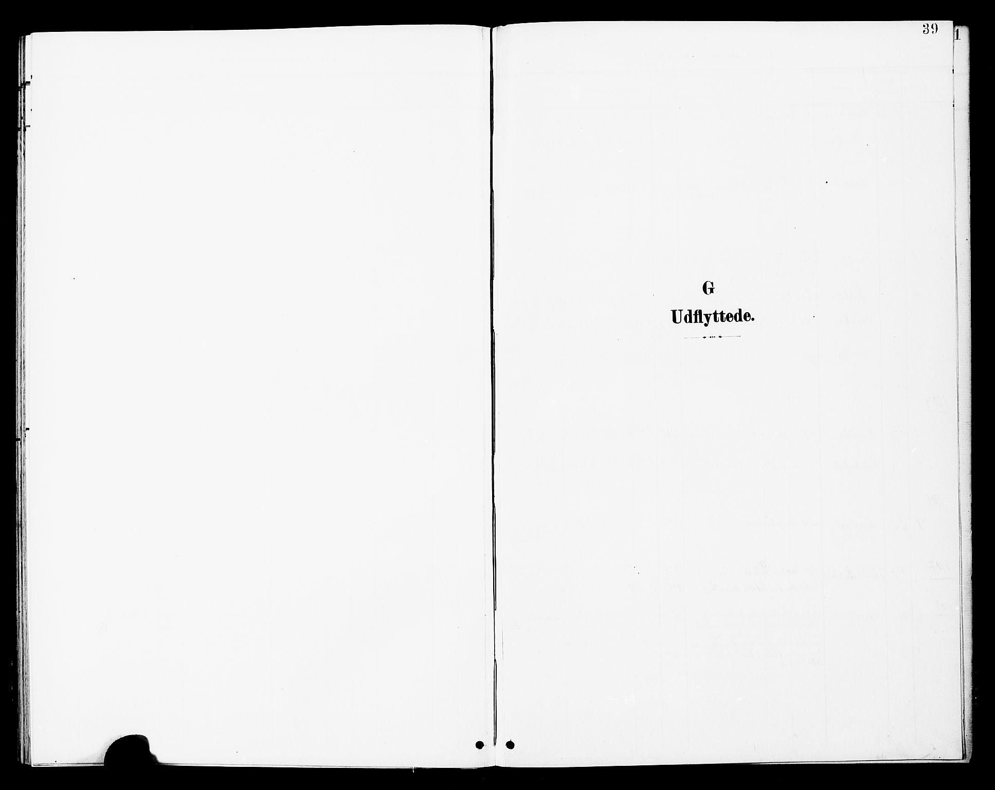 SAT, Ministerialprotokoller, klokkerbøker og fødselsregistre - Nord-Trøndelag, 748/L0464: Ministerialbok nr. 748A01, 1900-1908, s. 39