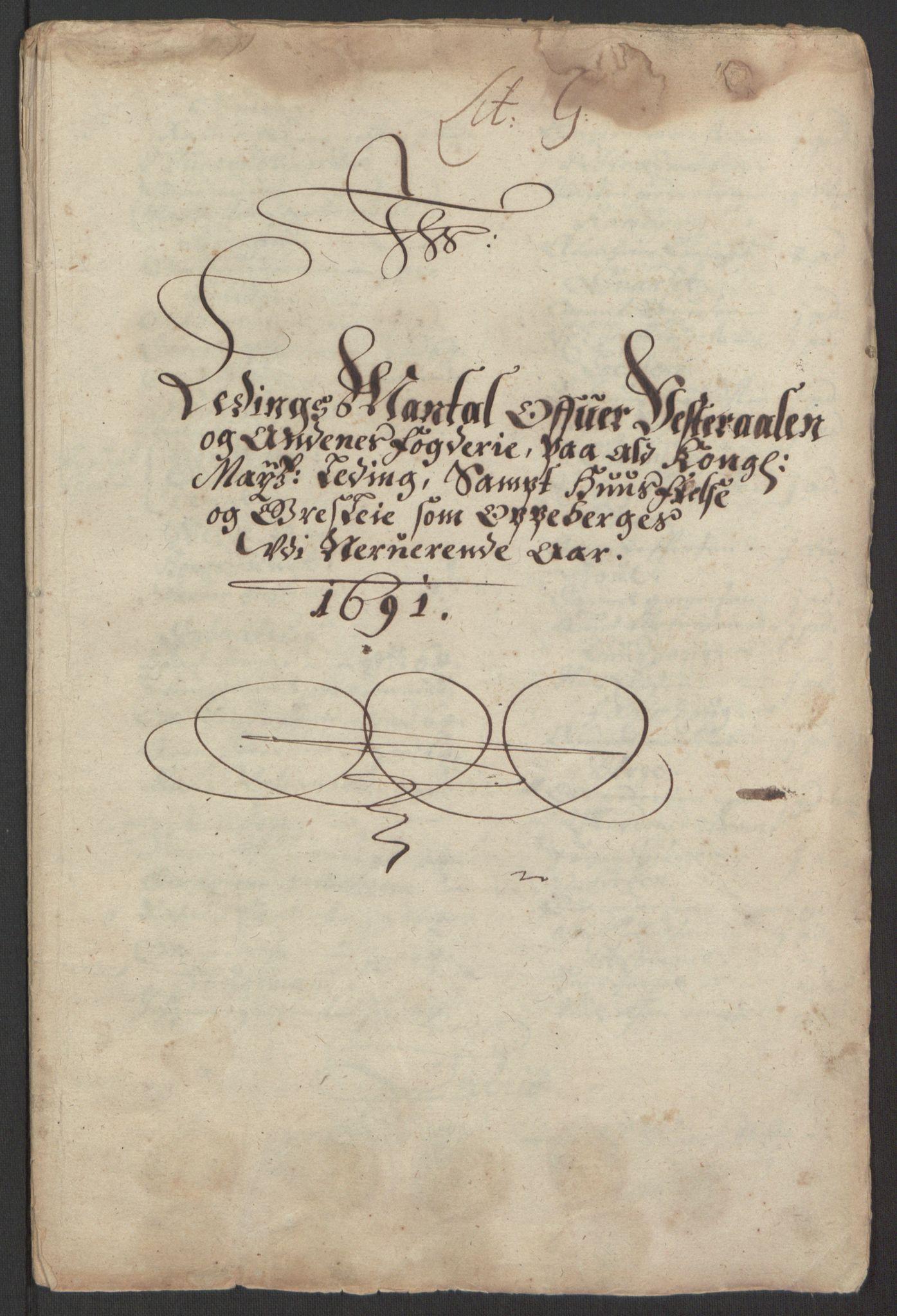 RA, Rentekammeret inntil 1814, Reviderte regnskaper, Fogderegnskap, R67/L4676: Fogderegnskap Vesterålen, Andenes og Lofoten, 1691-1693, s. 55